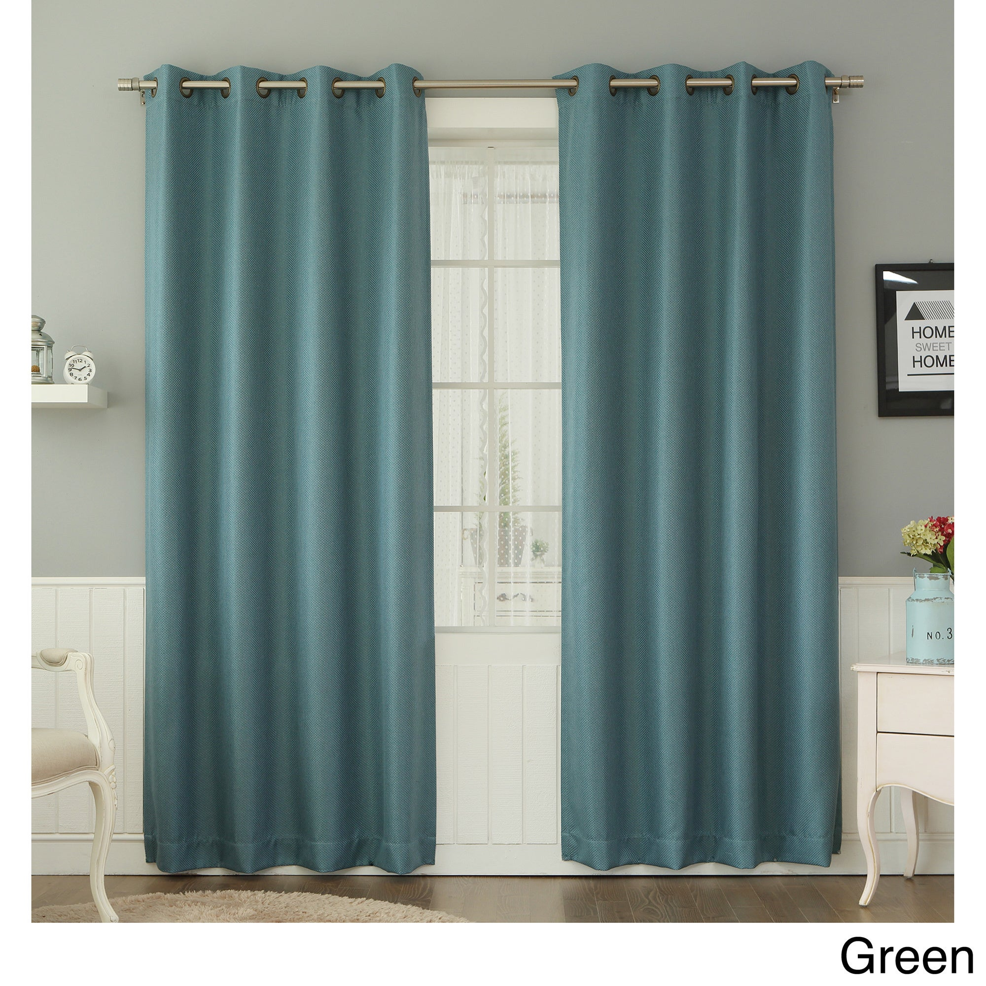 curtain aurora match and grommet curtains linen dot sheer itm home mix inches panel piece pair blackout