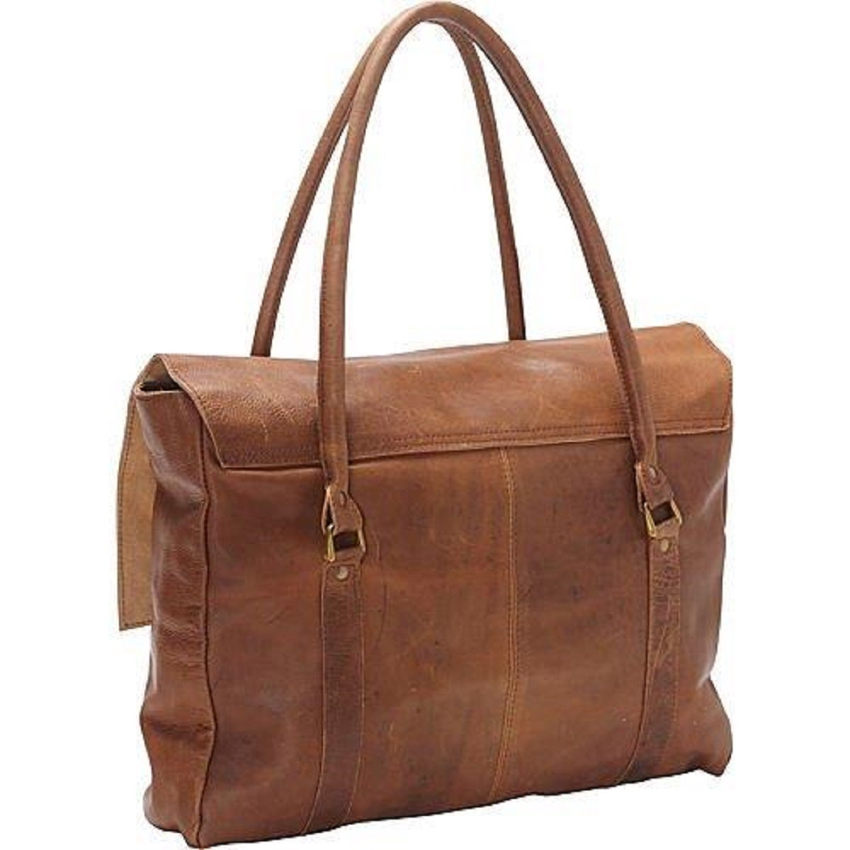 Large Oversized Soft Brown Leather Handbag On Free Shipping Today 10068431