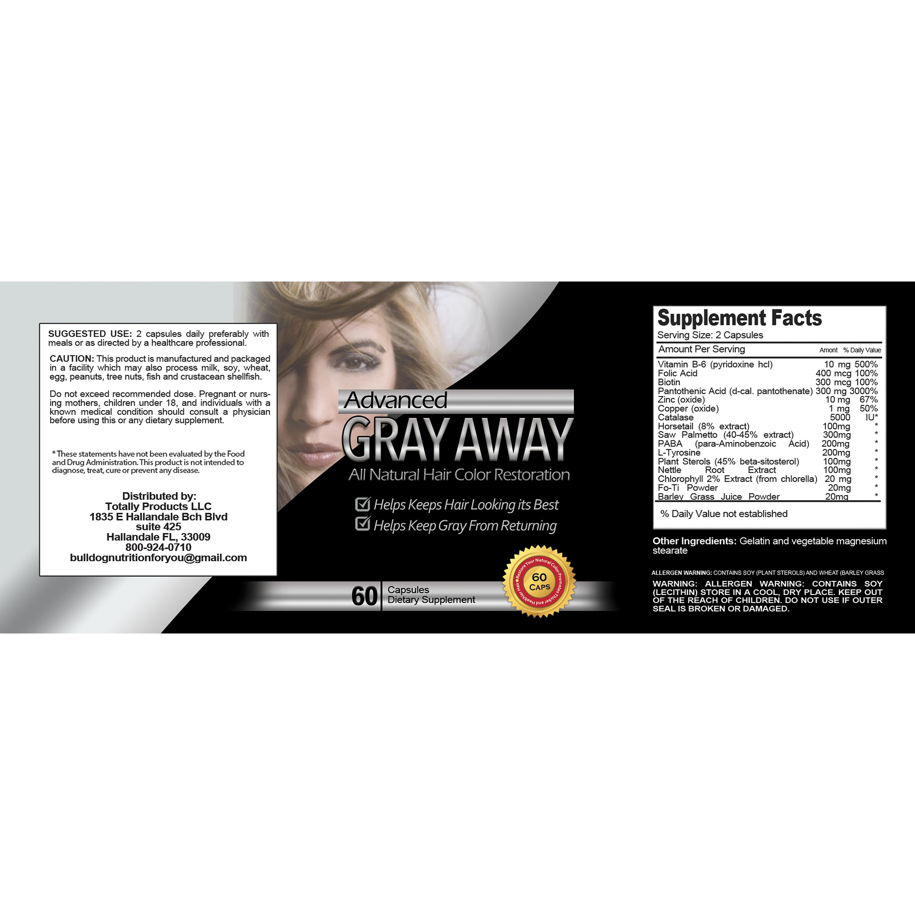 Totally Products Turn Gray Hair Away All-natural Hair Color ...