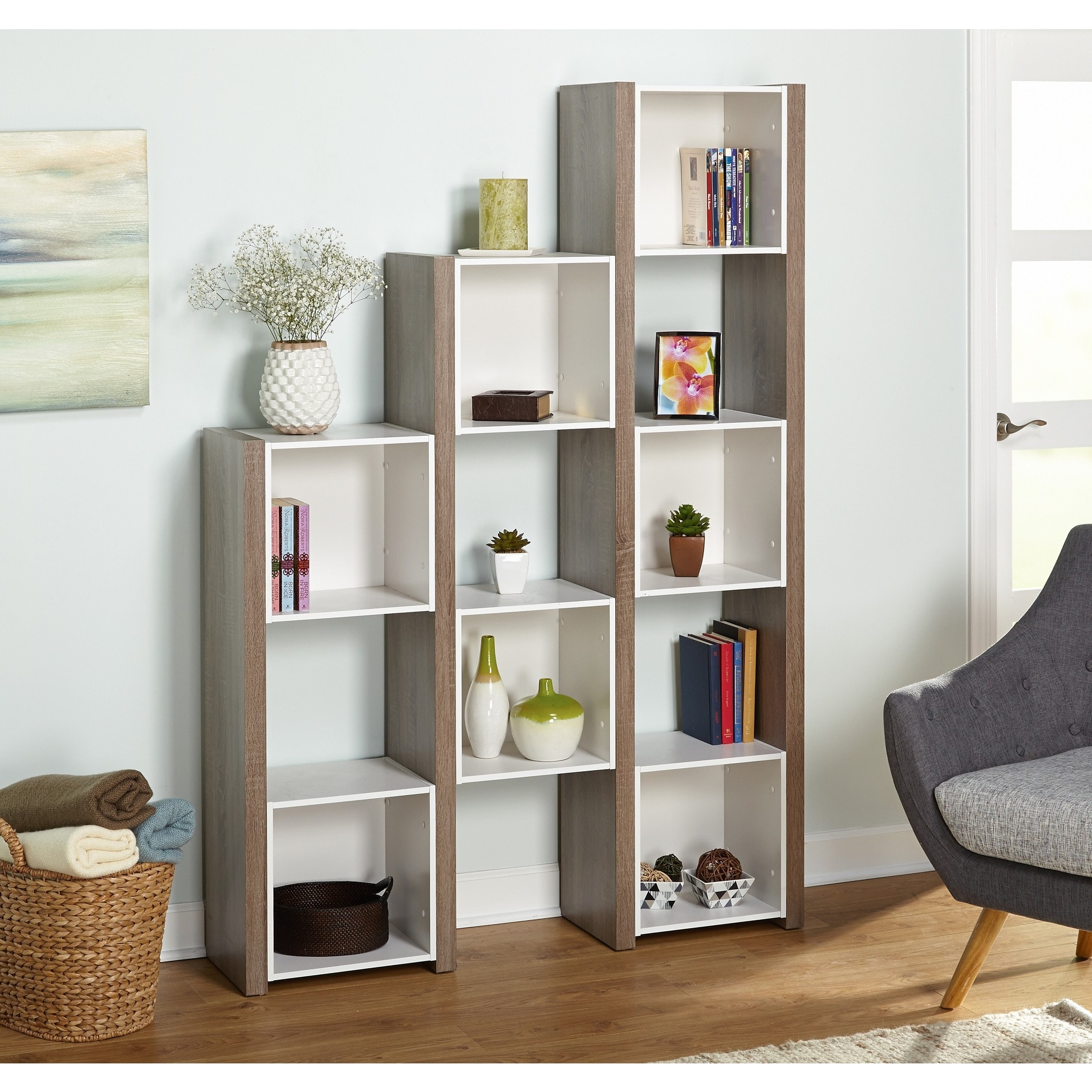 bookcase dividers divider weekender cube room bookshelves bayside costco furnishings