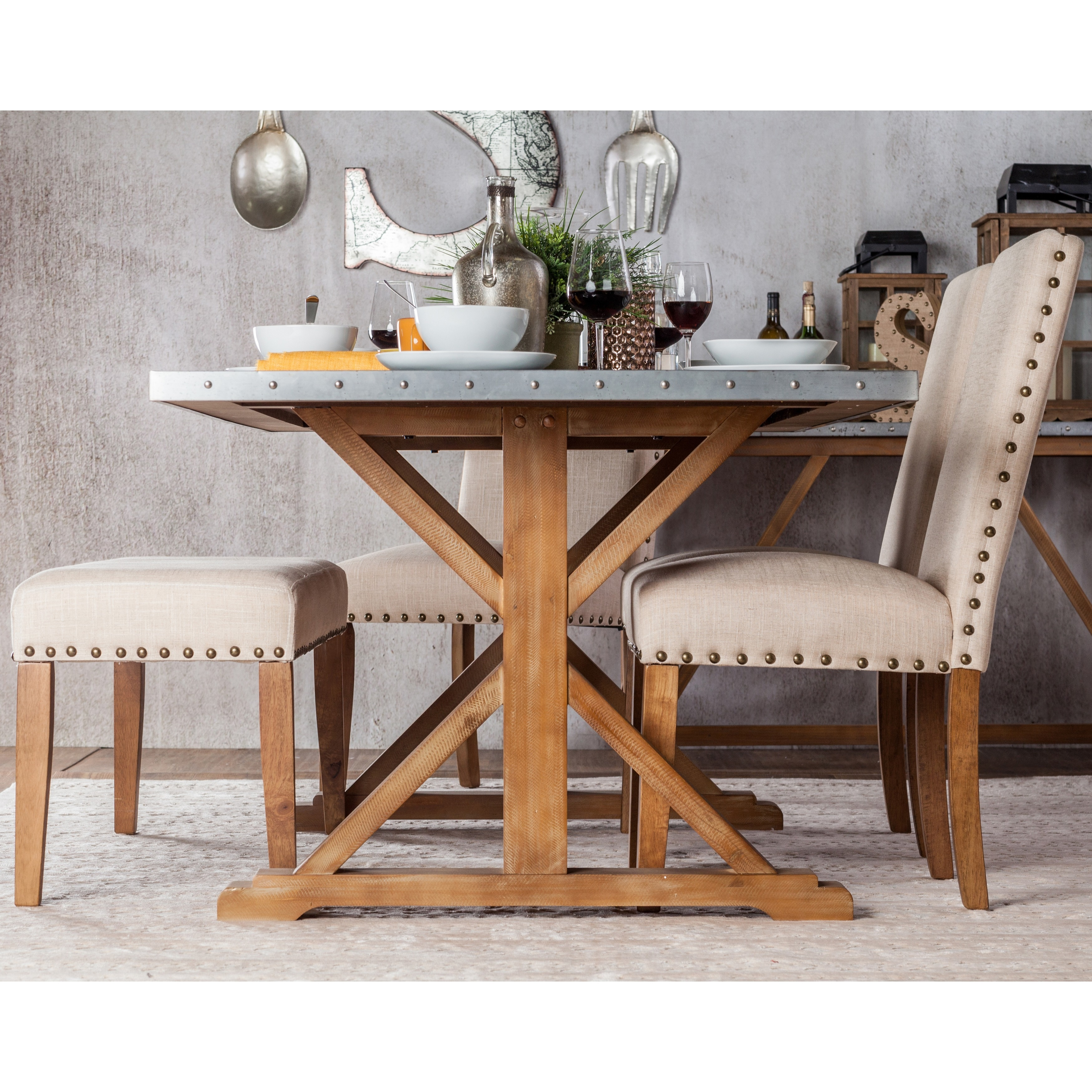 Furniture Of America Aralla Industrial Style Dining Table Free  ~ Sofa Used With Dining Table