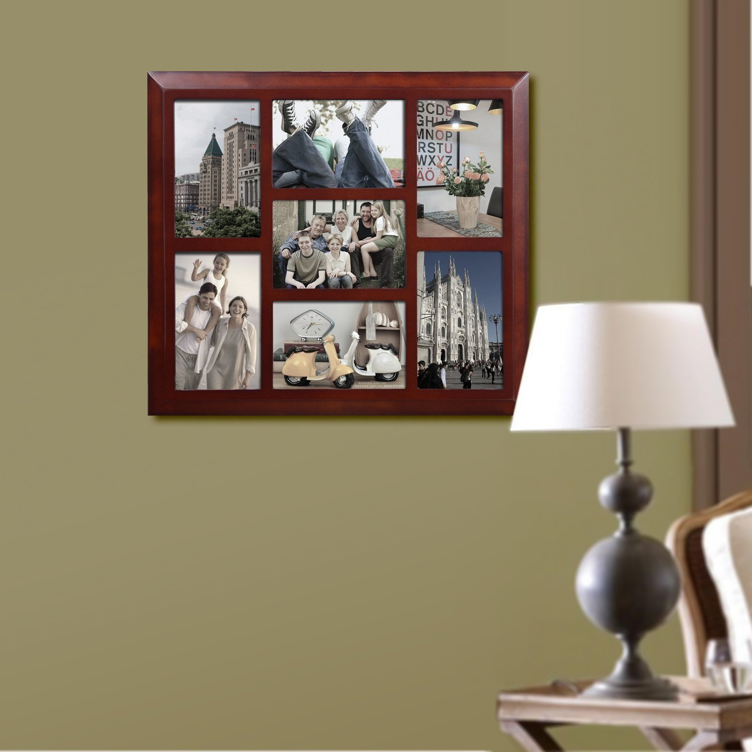 Adeco Decorative Walnut-color Wood Wall Hanging Vertical and ...