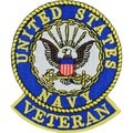 US Navy Veteran Round Logo Patch