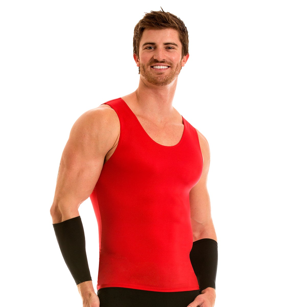 d4ad1f220da4a0 Shop InstaSlim Pro Active Wear Compression Muscle Tank T-shirt - On Sale -  Free Shipping On Orders Over  45 - Overstock - 10075131