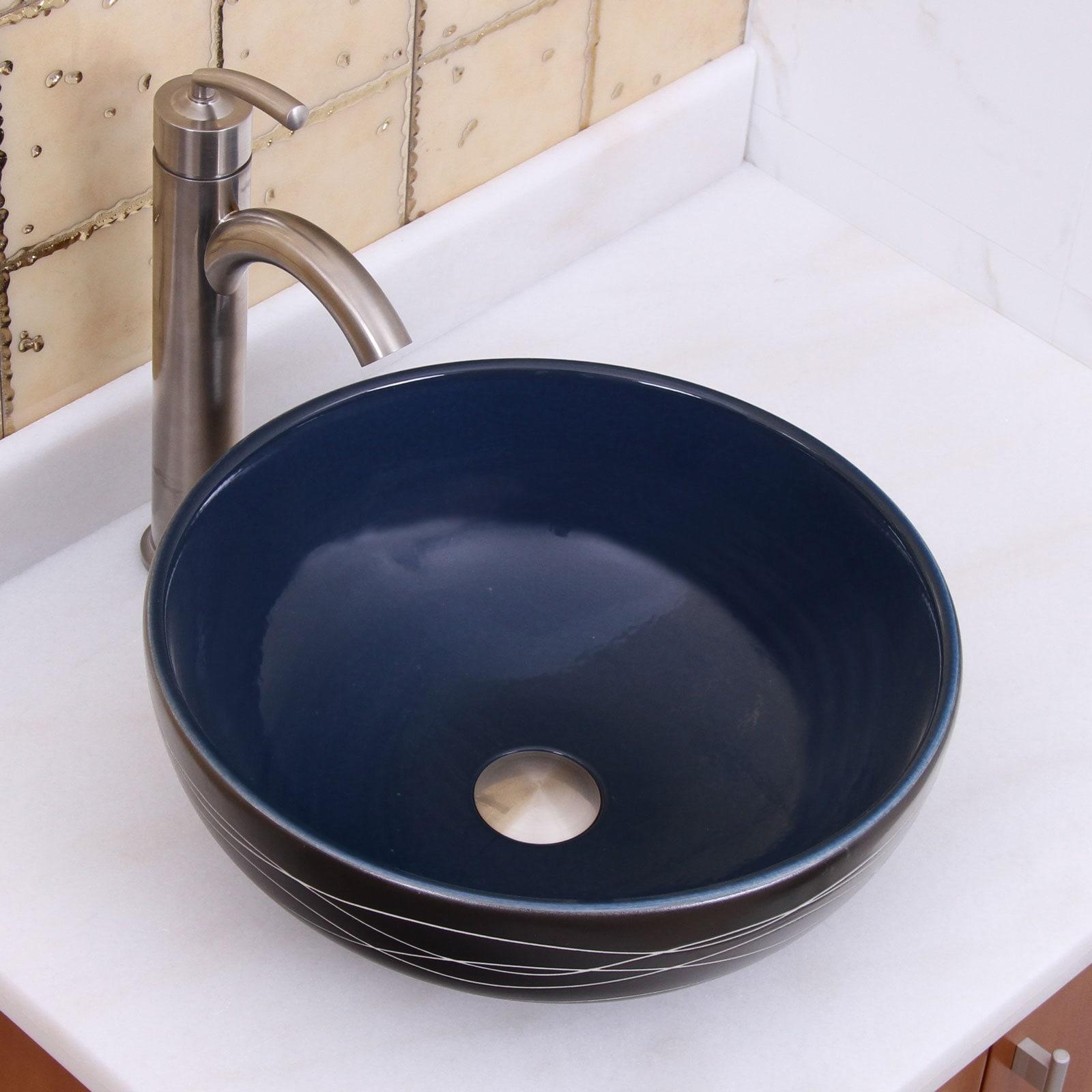 Charmant Shop ELIMAXu0027S 2021 Sapphire Glaze Porcelain Ceramic Bathroom Vessel Sink    Free Shipping Today   Overstock.com   10075292