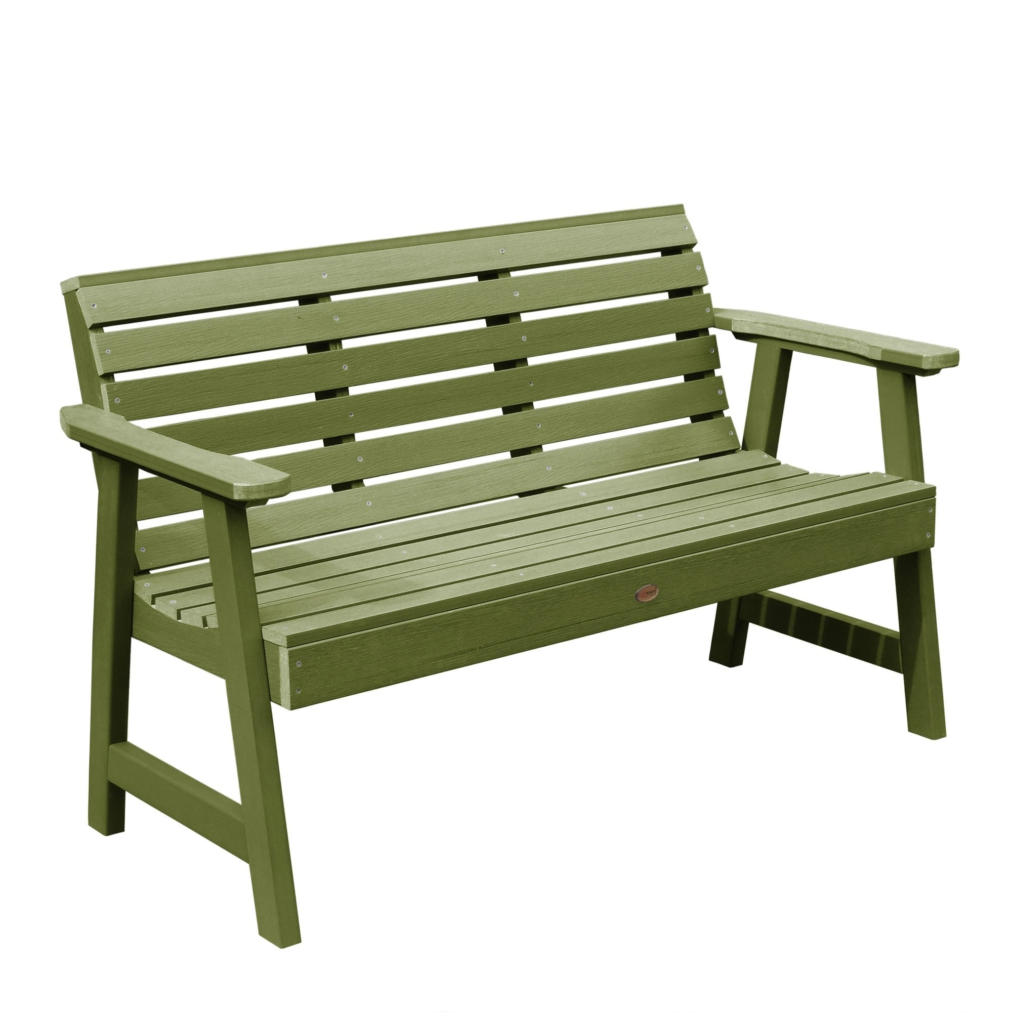 Highwood Weatherly Eco Friendly 4 Foot Garden Bench   Free Shipping Today    Overstock.com   17220959