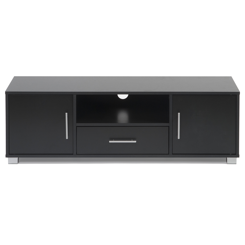 Ordinaire Shop Sorento Black 2 Door 1 Drawer Entertainment Cabinet   Free Shipping  Today   Overstock.com   10077839