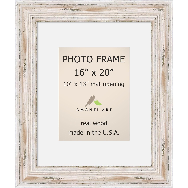 Alexandria Whitewash Photo Frame 16x20, Matted to 10x13\' 21 x 25 ...