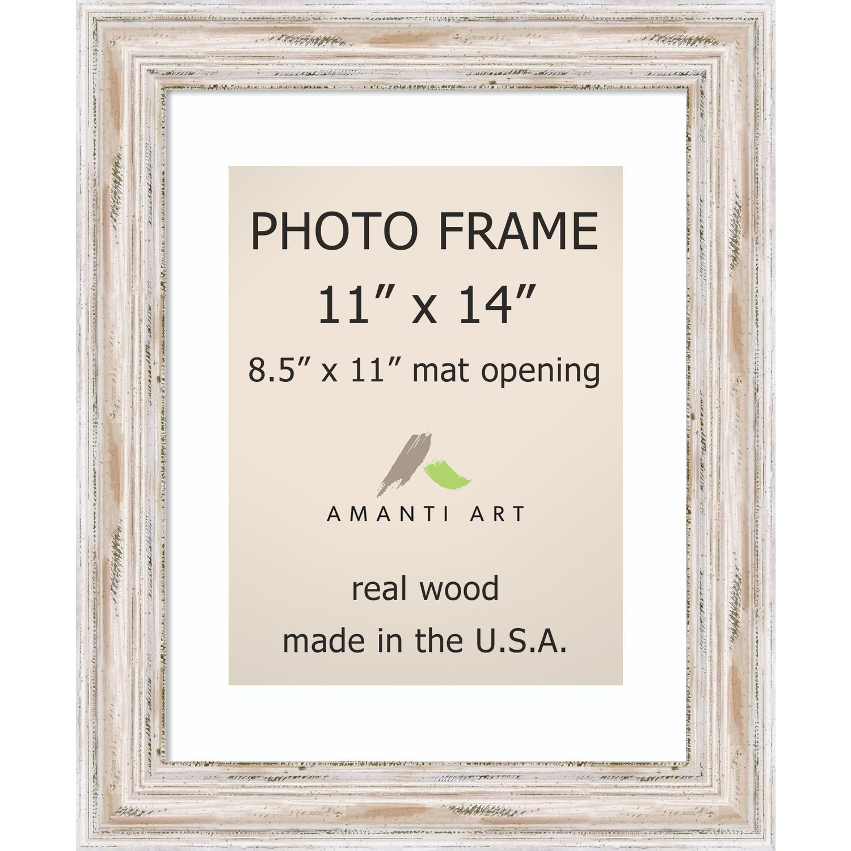 Shop Alexandria Whitewash Photo Frame 11x14, Matted to 8.5x11\' 14 x ...