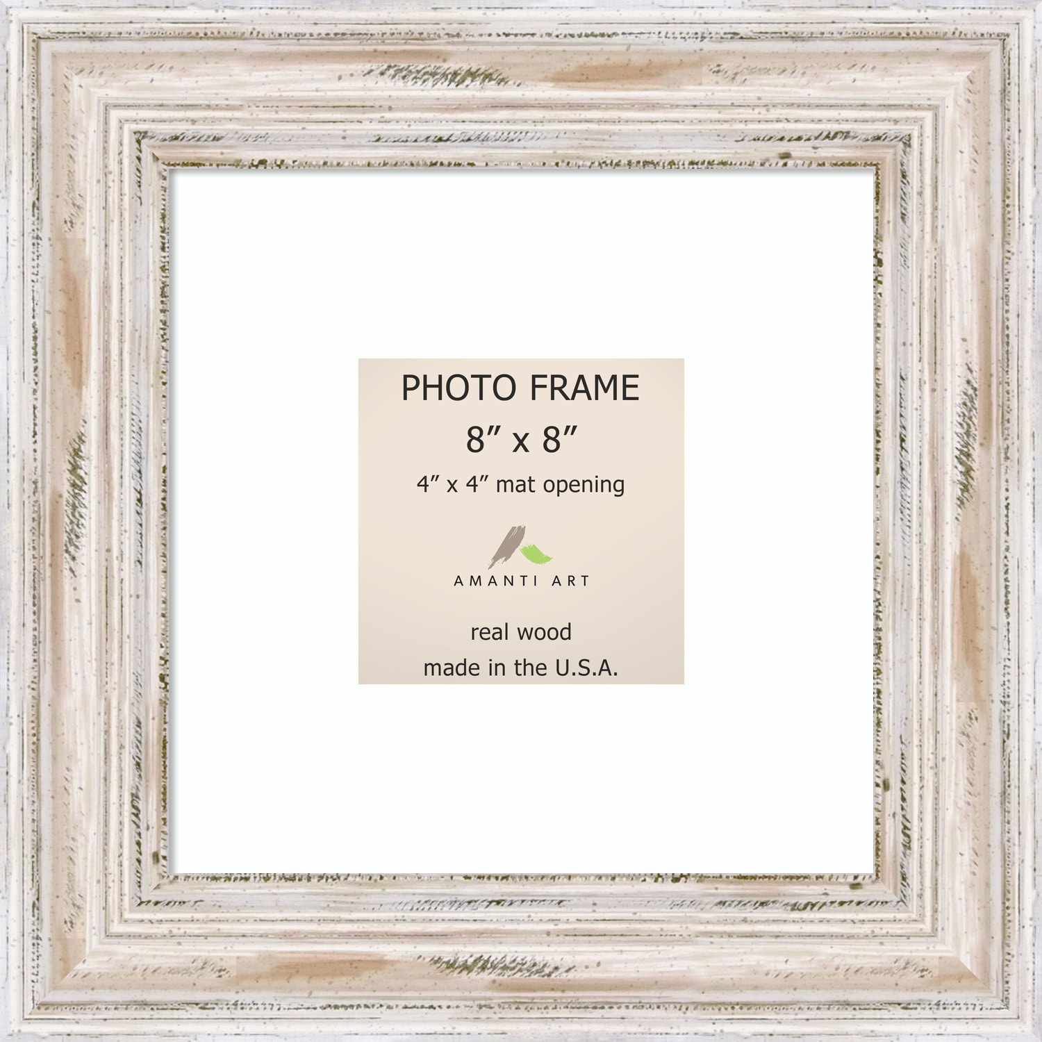 Shop Alexandria Whitewash Photo Frame 8x8, Matted to 4x4\' 11 x 11 ...