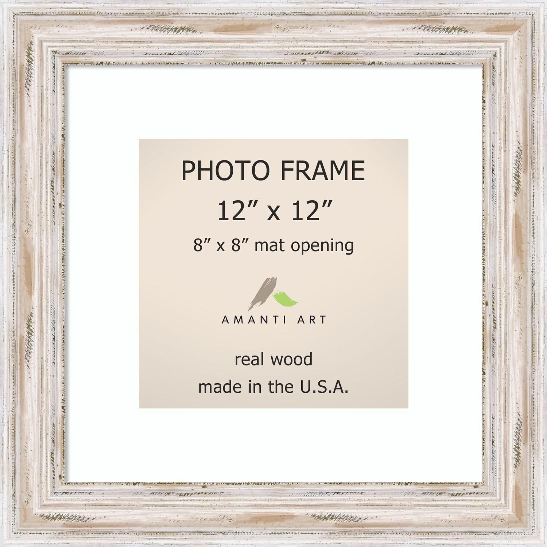 Shop Alexandria Whitewash Photo Frame 12x12, Matted to 8x8\' 15 x 15 ...