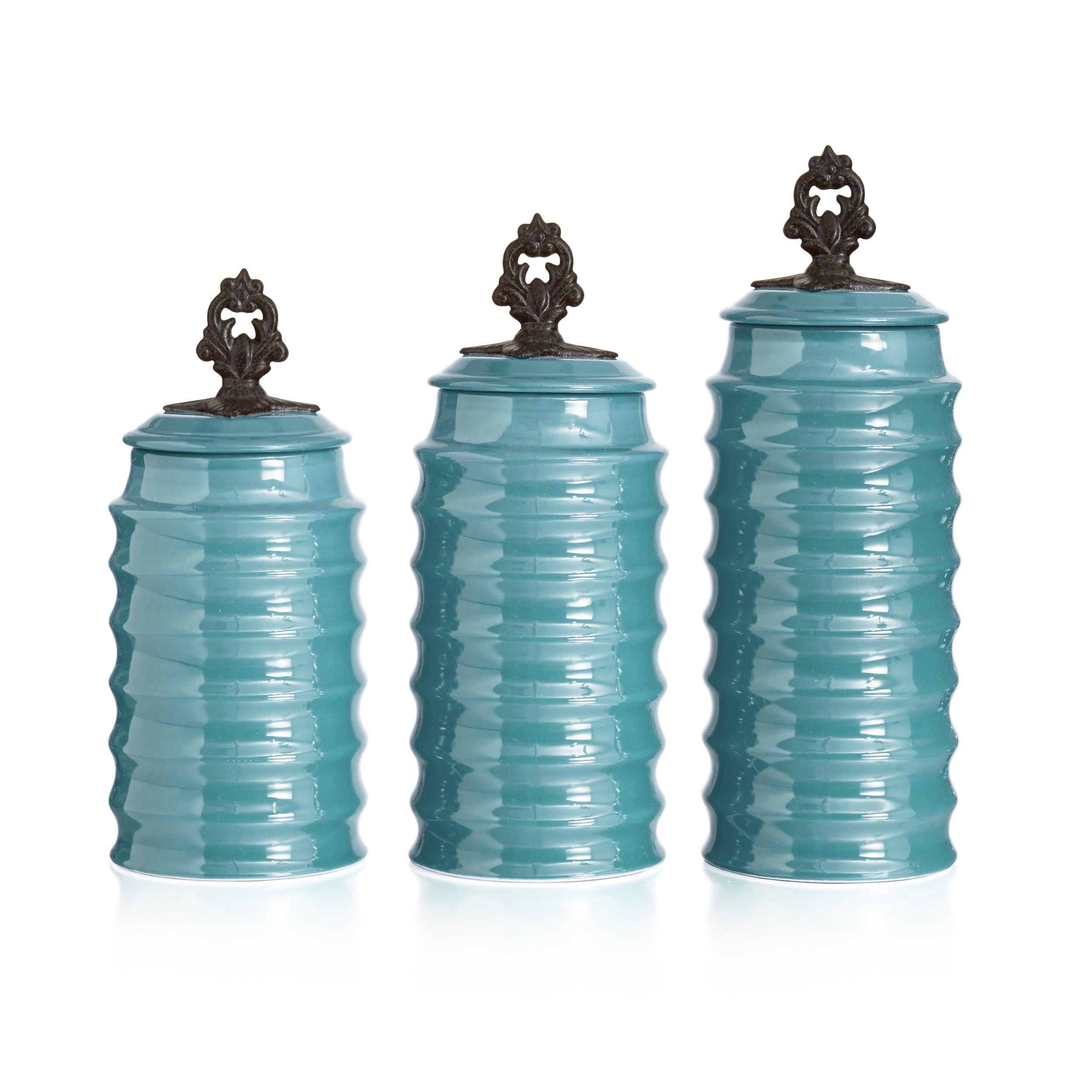 Shop Rani 3-piece Canister Set - Free Shipping Today - Overstock.com ...
