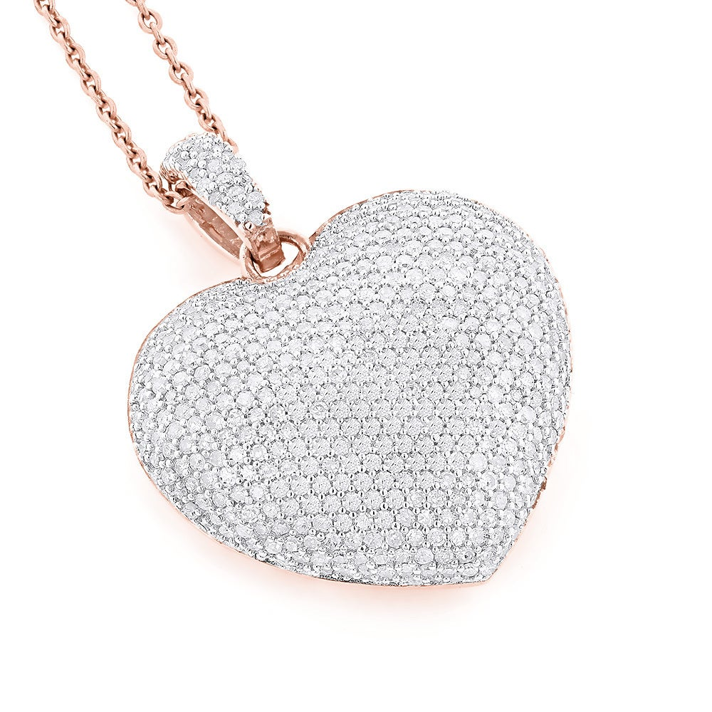Shop luxurman 14k gold 2ct tdw pave diamond heart necklace h si2 shop luxurman 14k gold 2ct tdw pave diamond heart necklace h si2 si2 on sale free shipping today overstock 10082613 aloadofball Image collections