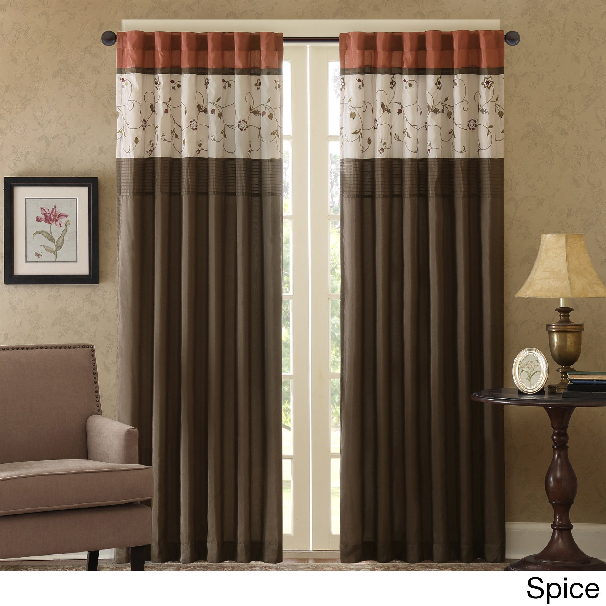 Shop Madison Park Belle Embroidered Window Curtain Panel