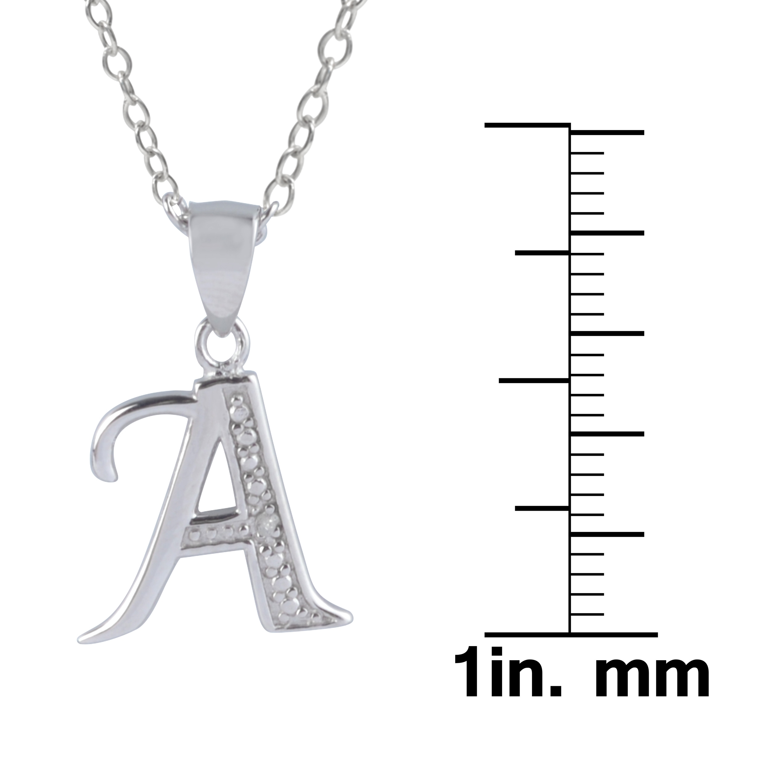 Shop journee collection sterling silver diamond accent letter shop journee collection sterling silver diamond accent letter pendants free shipping on orders over 45 overstock 10085151 aloadofball Images