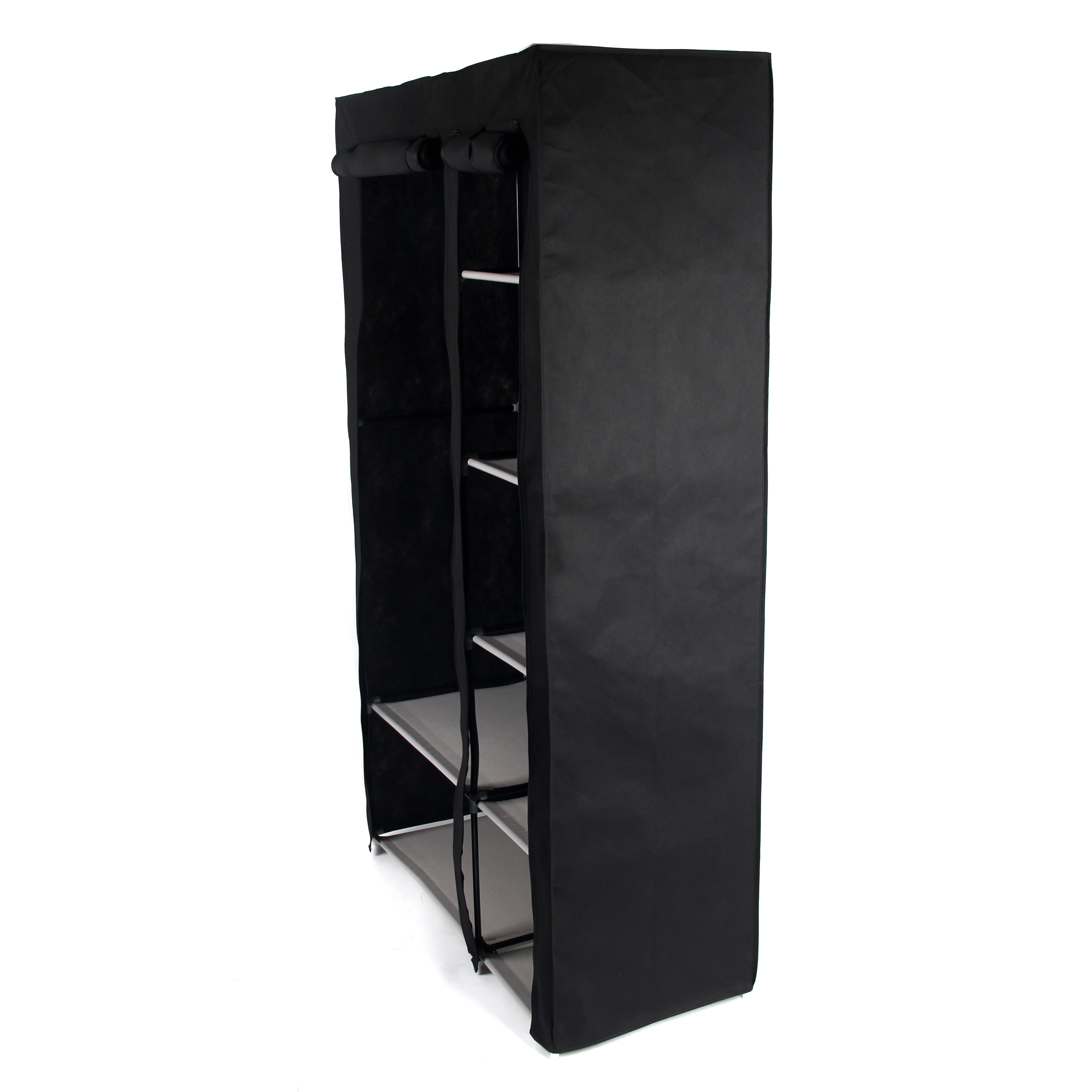 racks chrome storables garment web clothes propped storage portable folding and closet rack