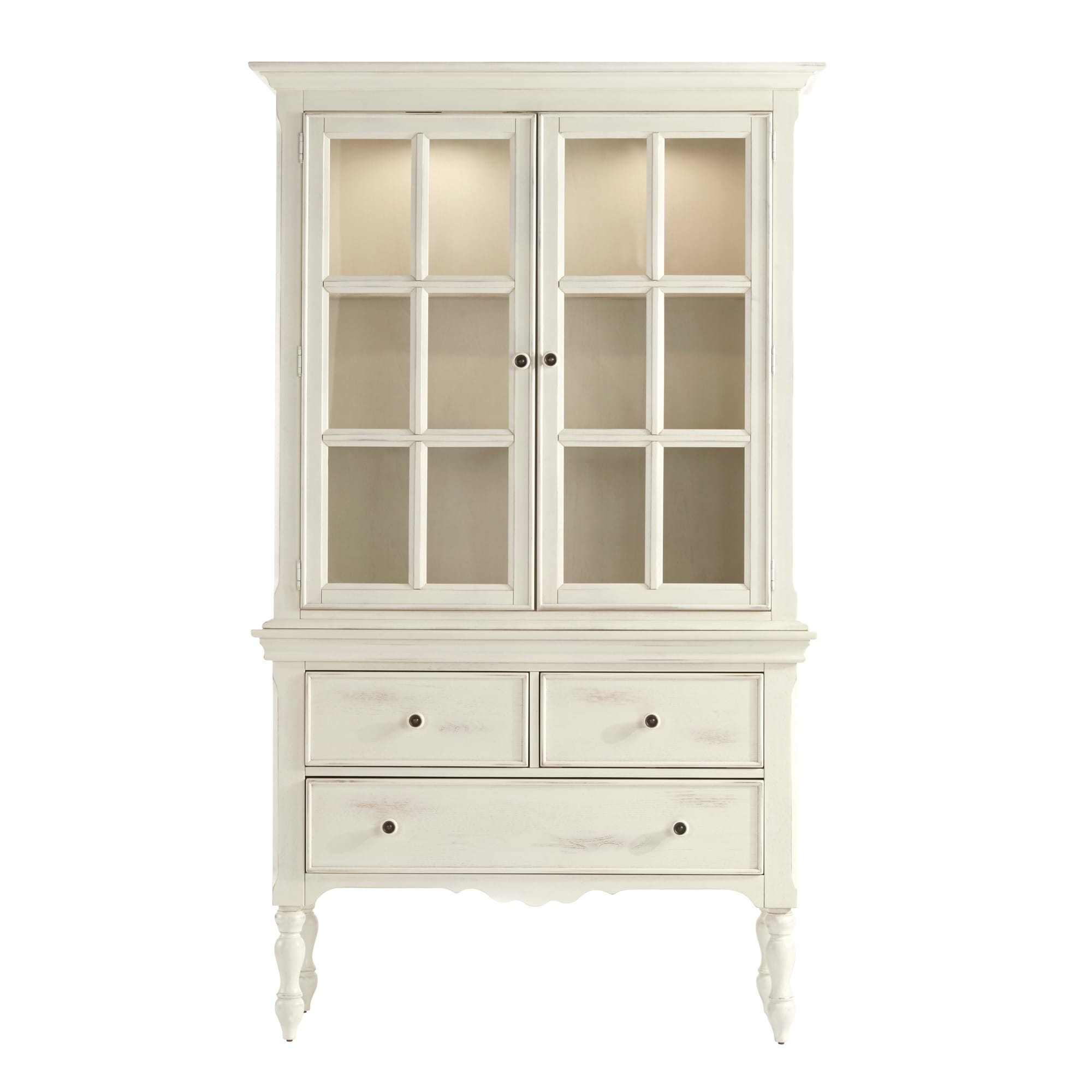 McKay Country Antique White Display Buffet Storage China Cabinet by iNSPIRE  Q Classic - Free Shipping Today - Overstock.com - 17228686