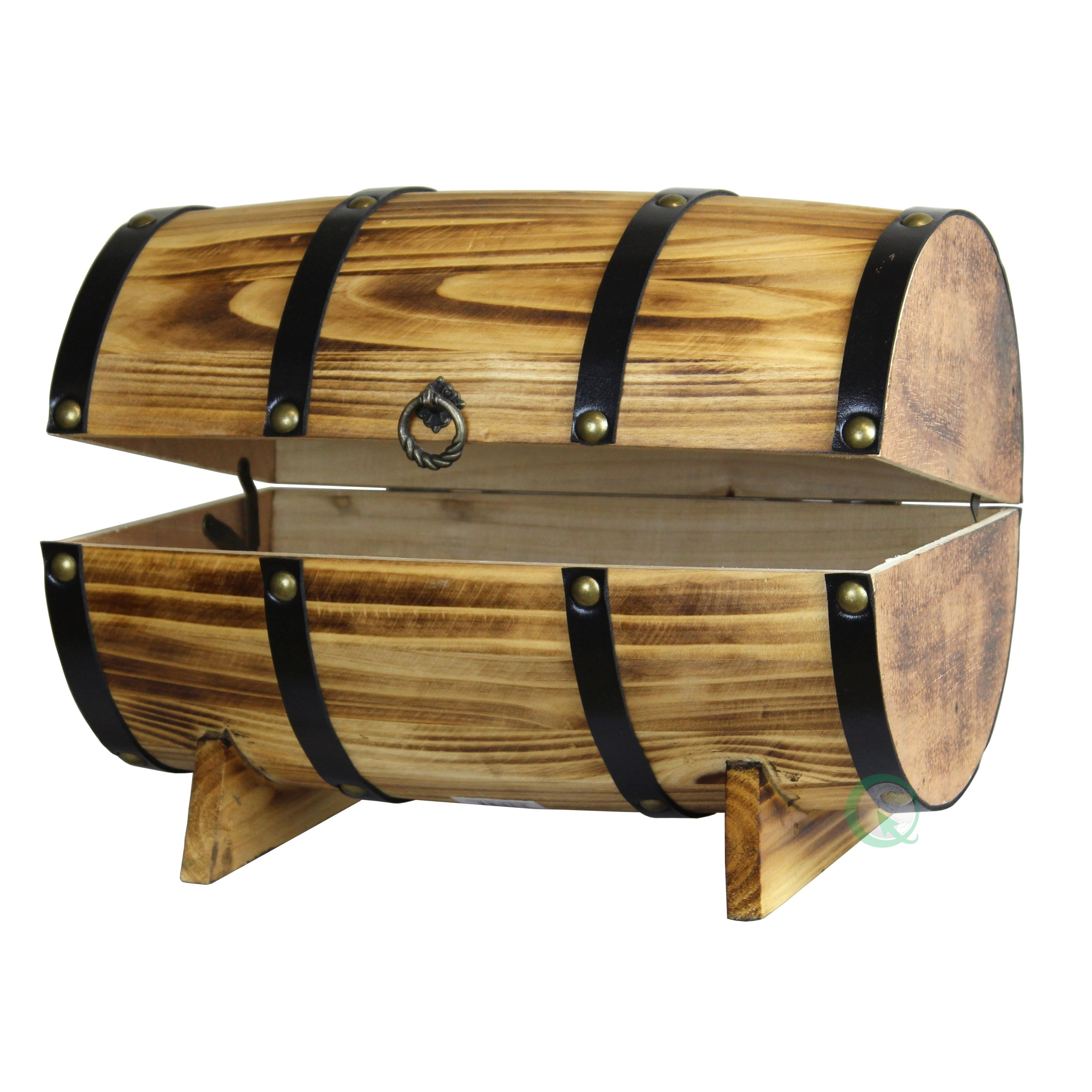 wood barrel furniture. Wooden Barrel Treasure Chest - Free Shipping Today Overstock.com 17231106 Wood Furniture S