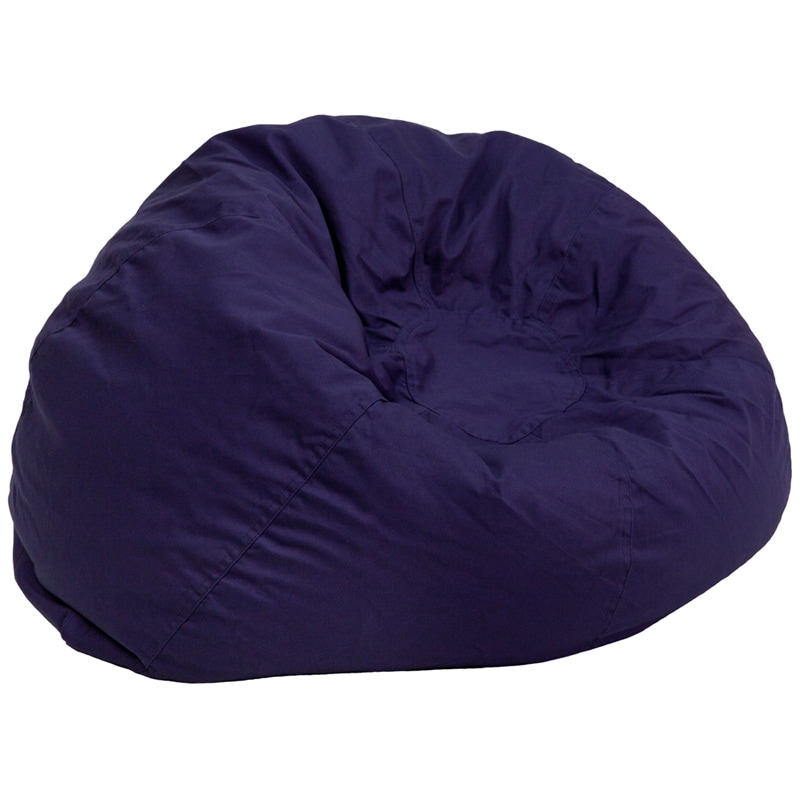 Lancaster Home Solid Cotton Oversized Bean Bag Chair Free Shipping Today 10089521