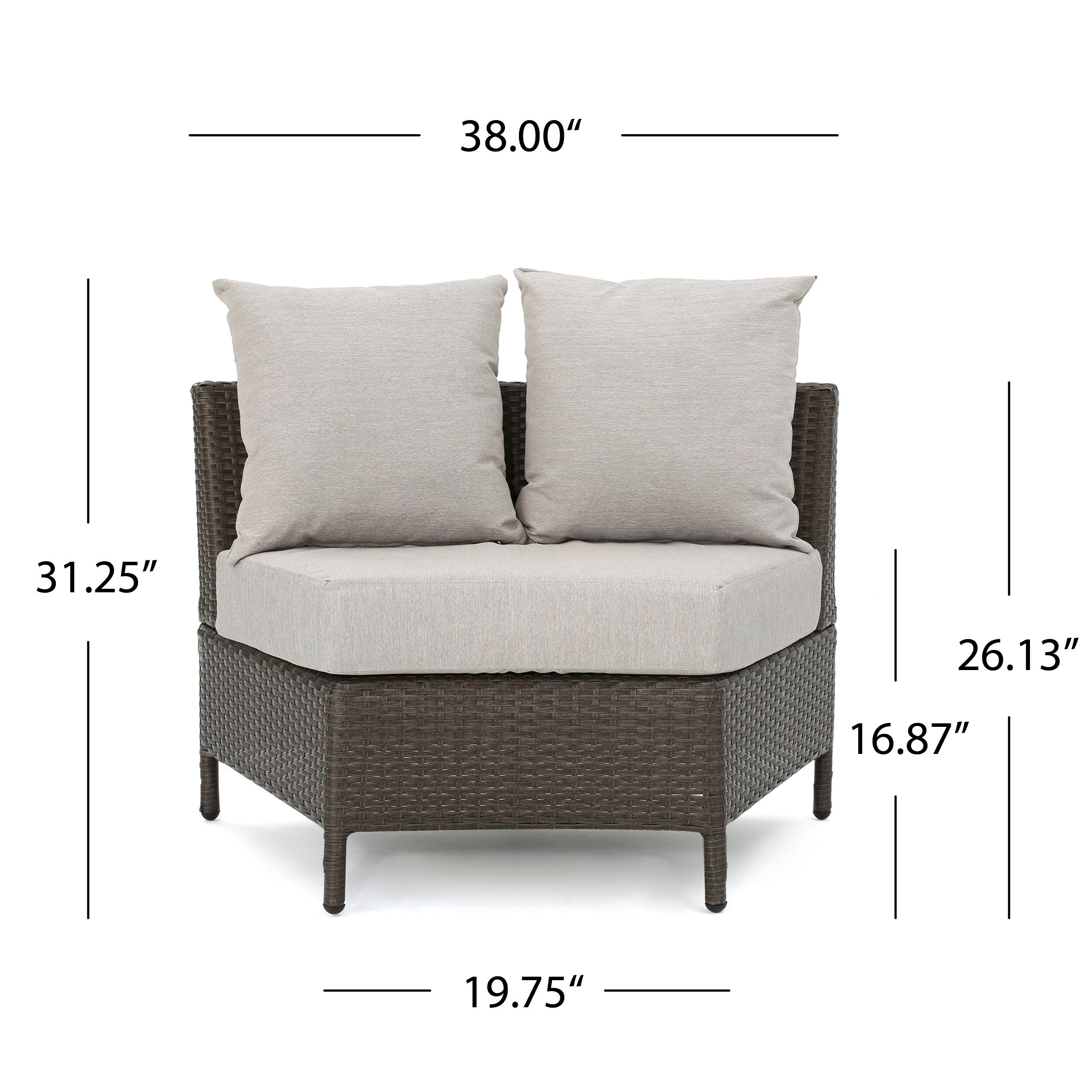 Newton Outdoor 10-piece Wicker Lounge Set by Christopher Knight ...