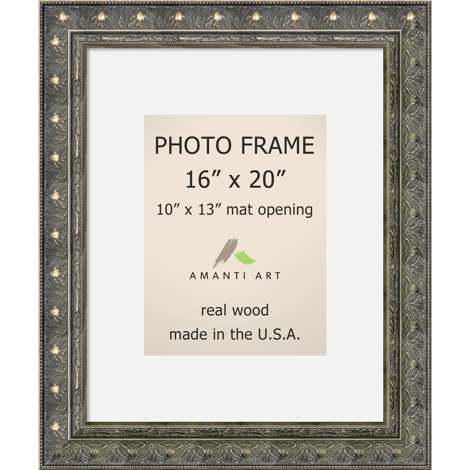 Shop Barcelona Pewter Photo Frame 16x20, Matted to 10x13\' 20 x 24 ...