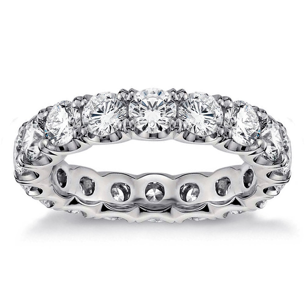 diamond wedding rings eternity ladies bands round cut ring band ct