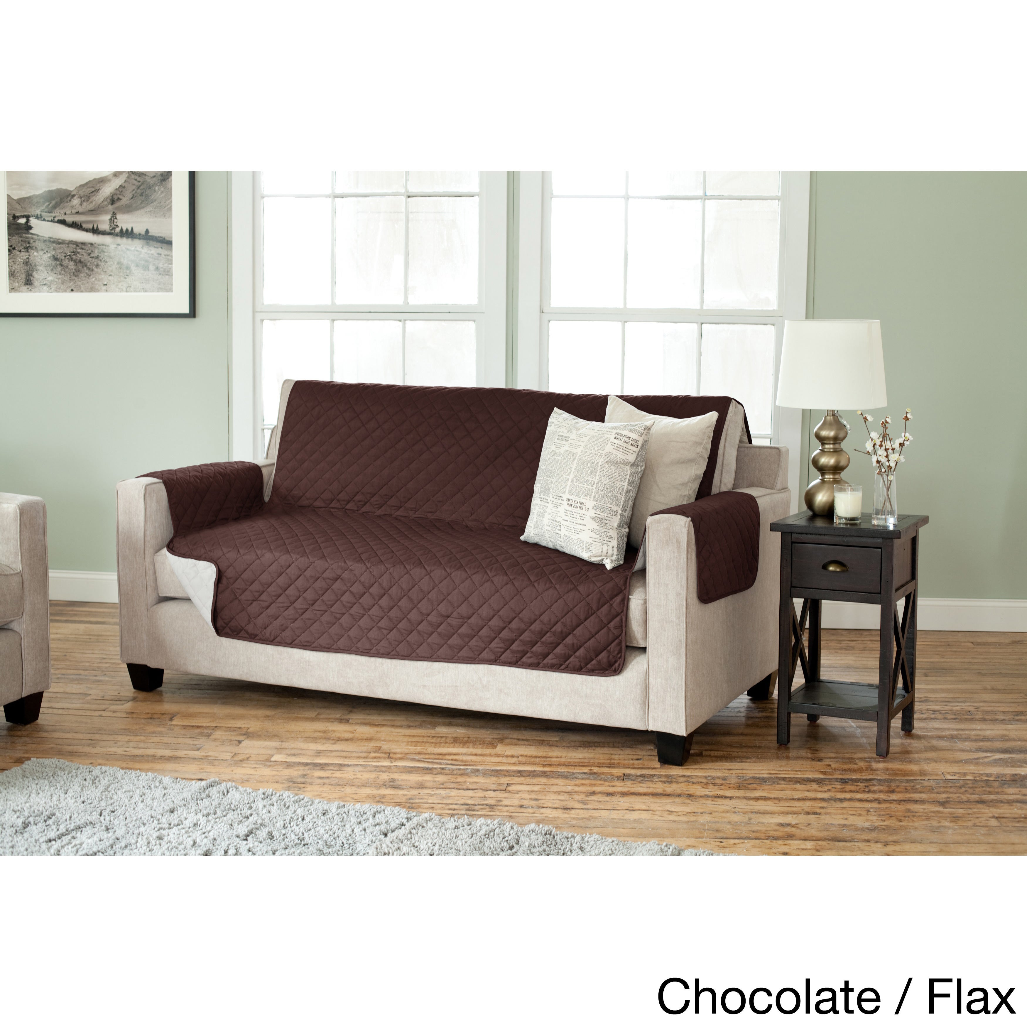 Home Fashion Designs Kaylee Collection Quilted Reversible Sofa Protector On Free Shipping Orders Over 45 10091916