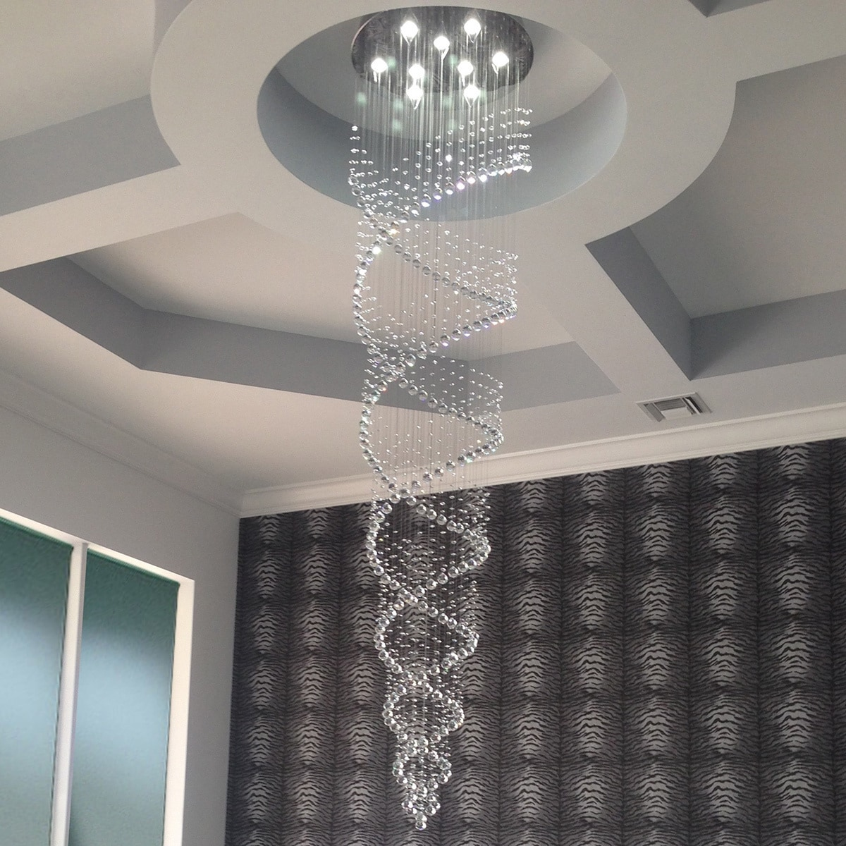 uk home ceiling lamp chandelier metal sale co summer crystal aosom football spiral homcom