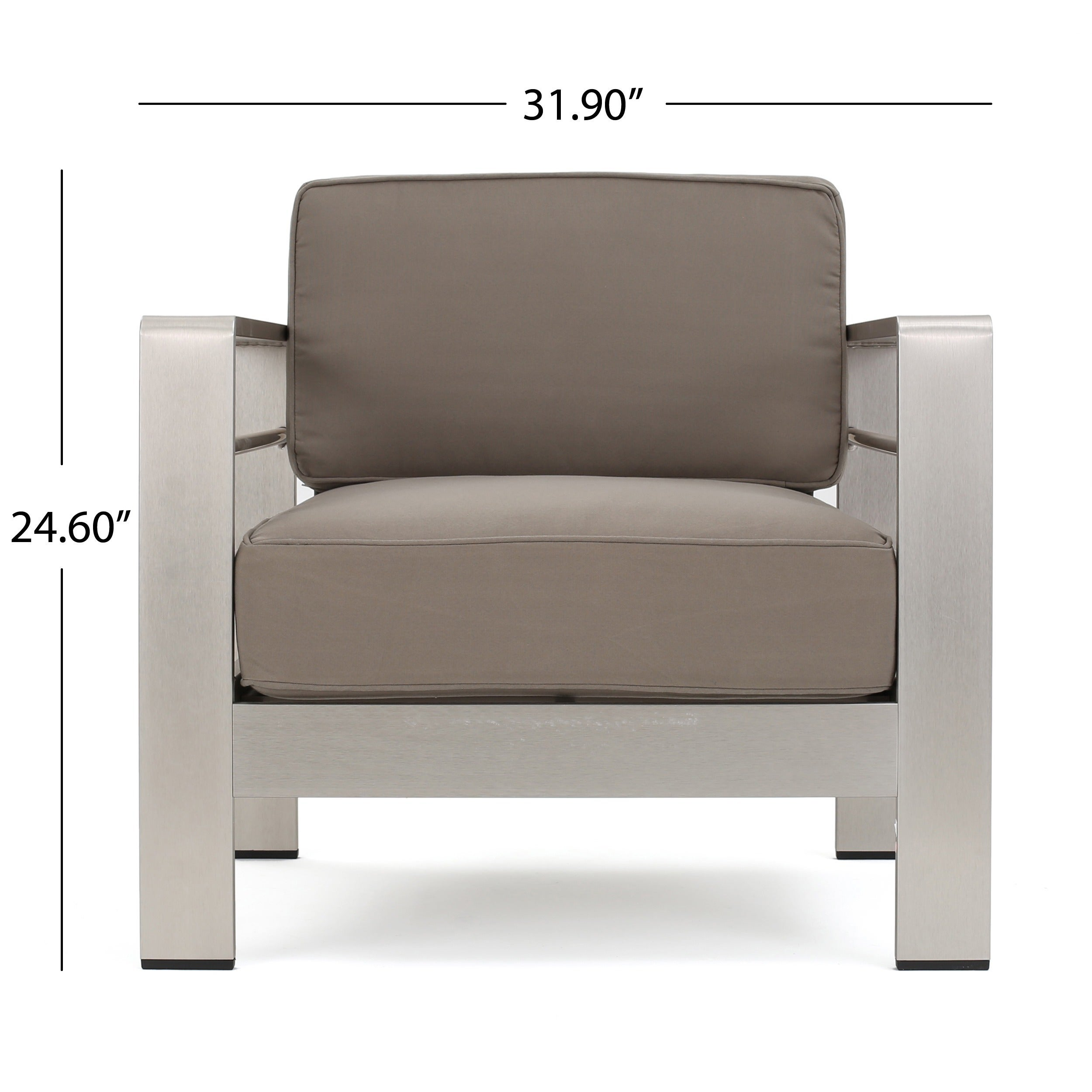 Cape Coral Outdoor Aluminum 4 piece Loveseat Set with Optional