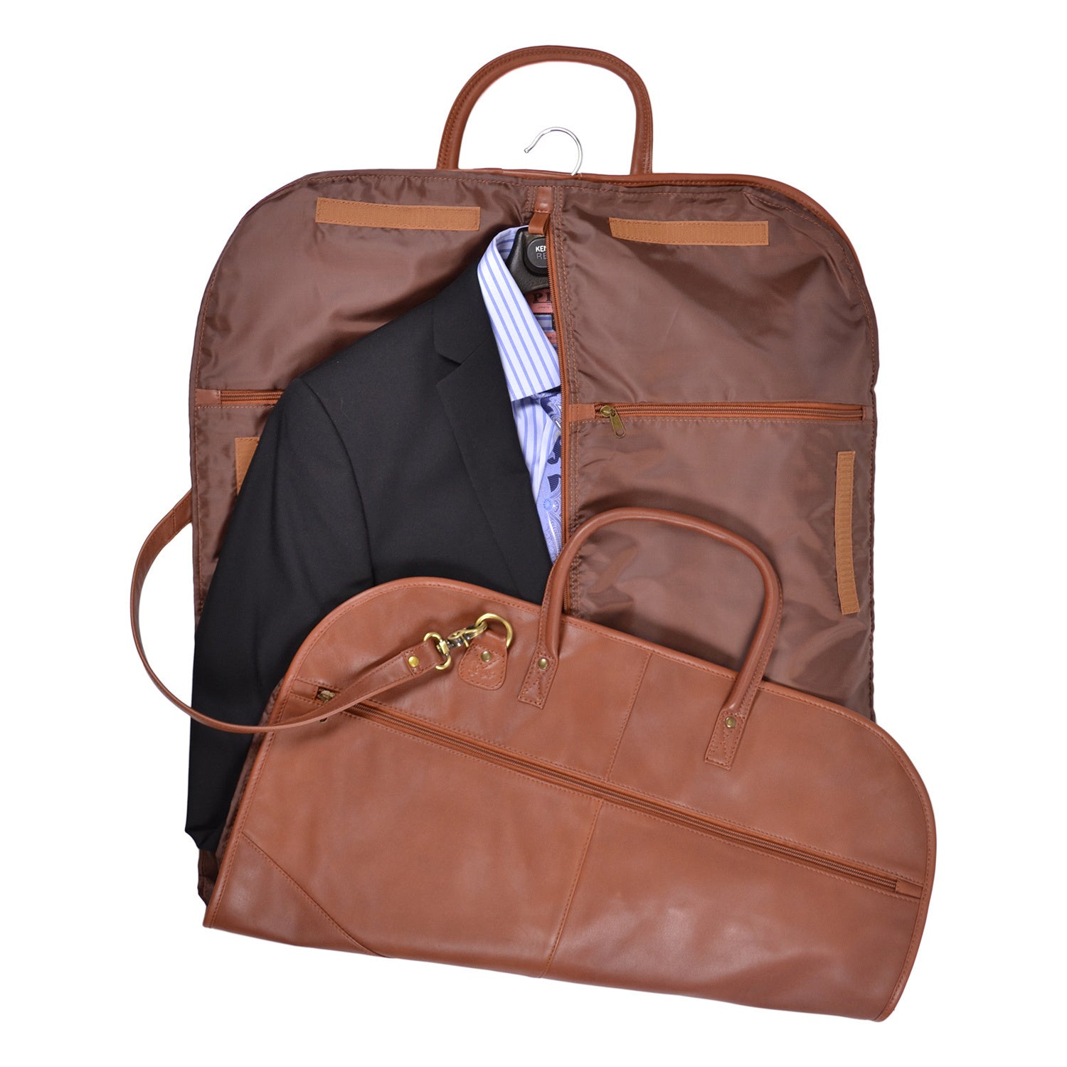 Royce Leather Spencer Genuine Garment Bag On Free Shipping Today 10094447