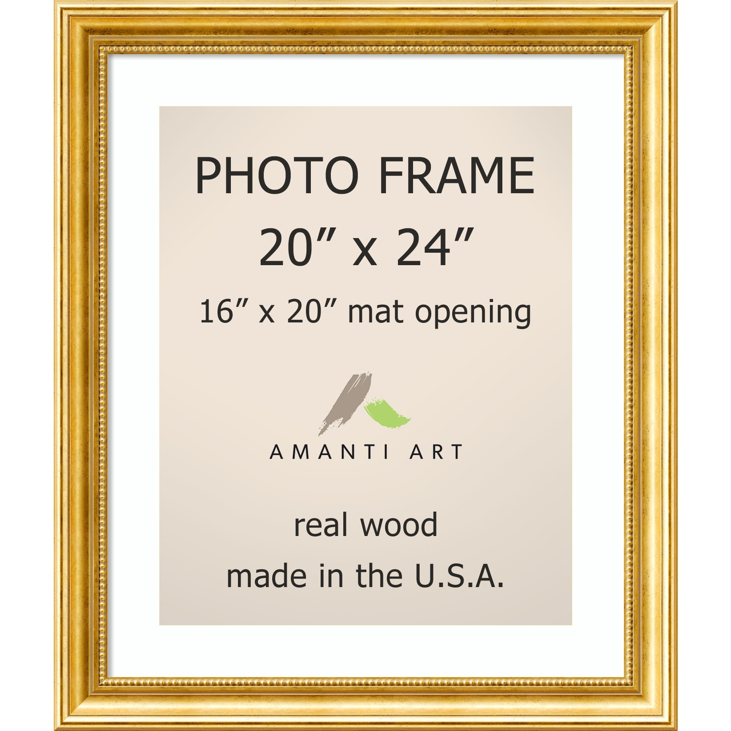Townhouse Gold Photo Frame 23 x 27-inch - Free Shipping Today ...