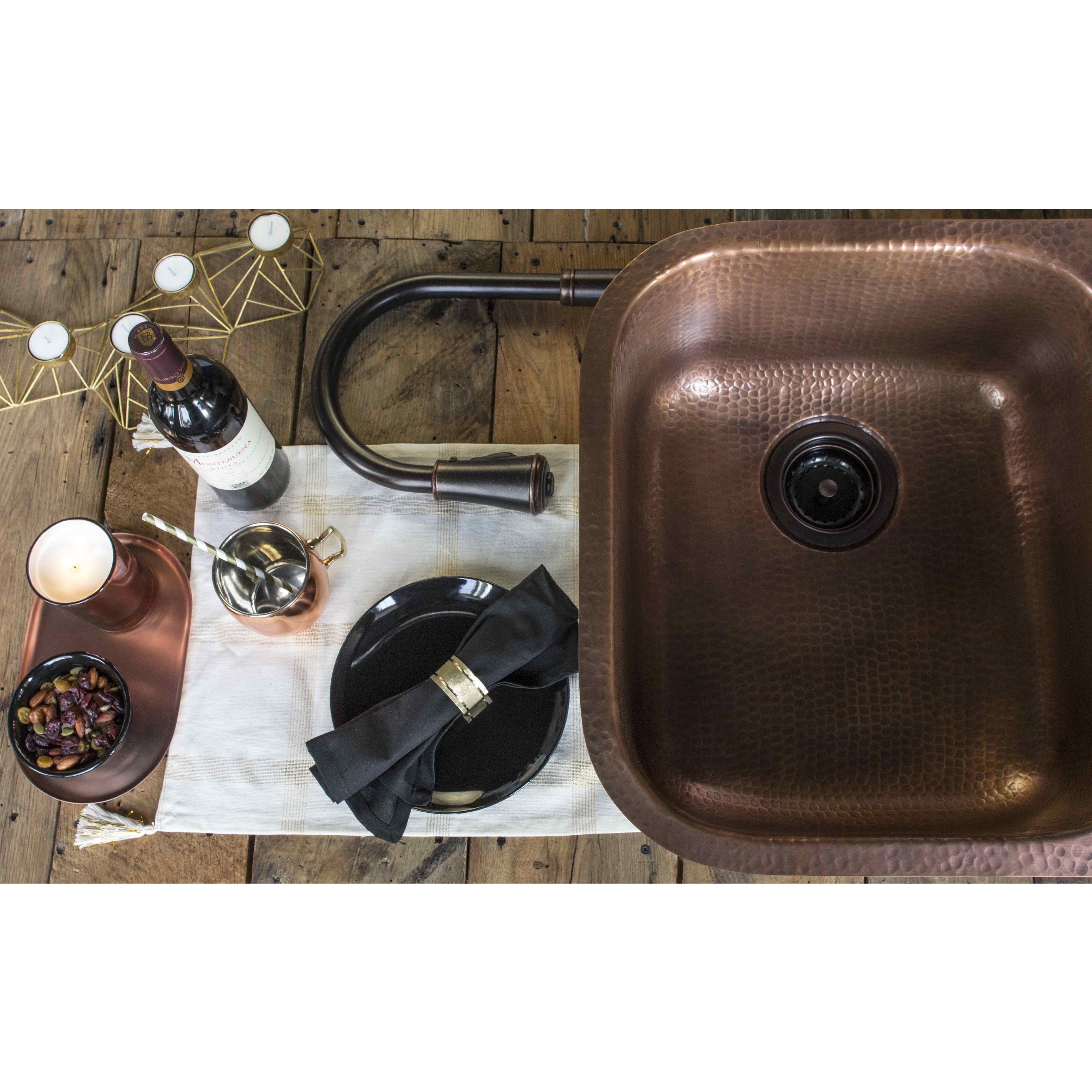 Shop Sinkology Kadinsky Handmade Undermount Double Bowl 32\