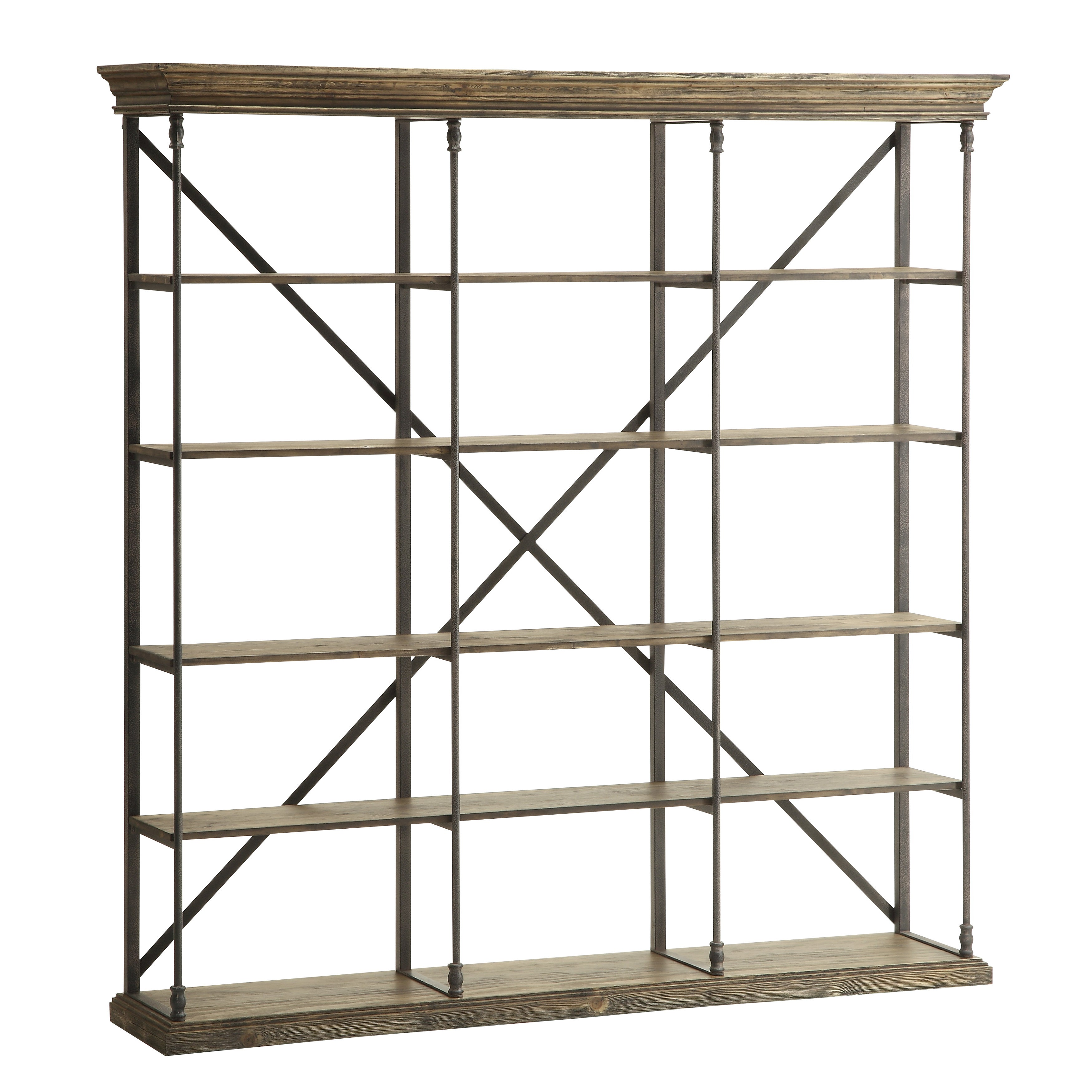 steel stainless overstock sunpan today home metal product wood bookcases mortimer free garden shipping bookcase