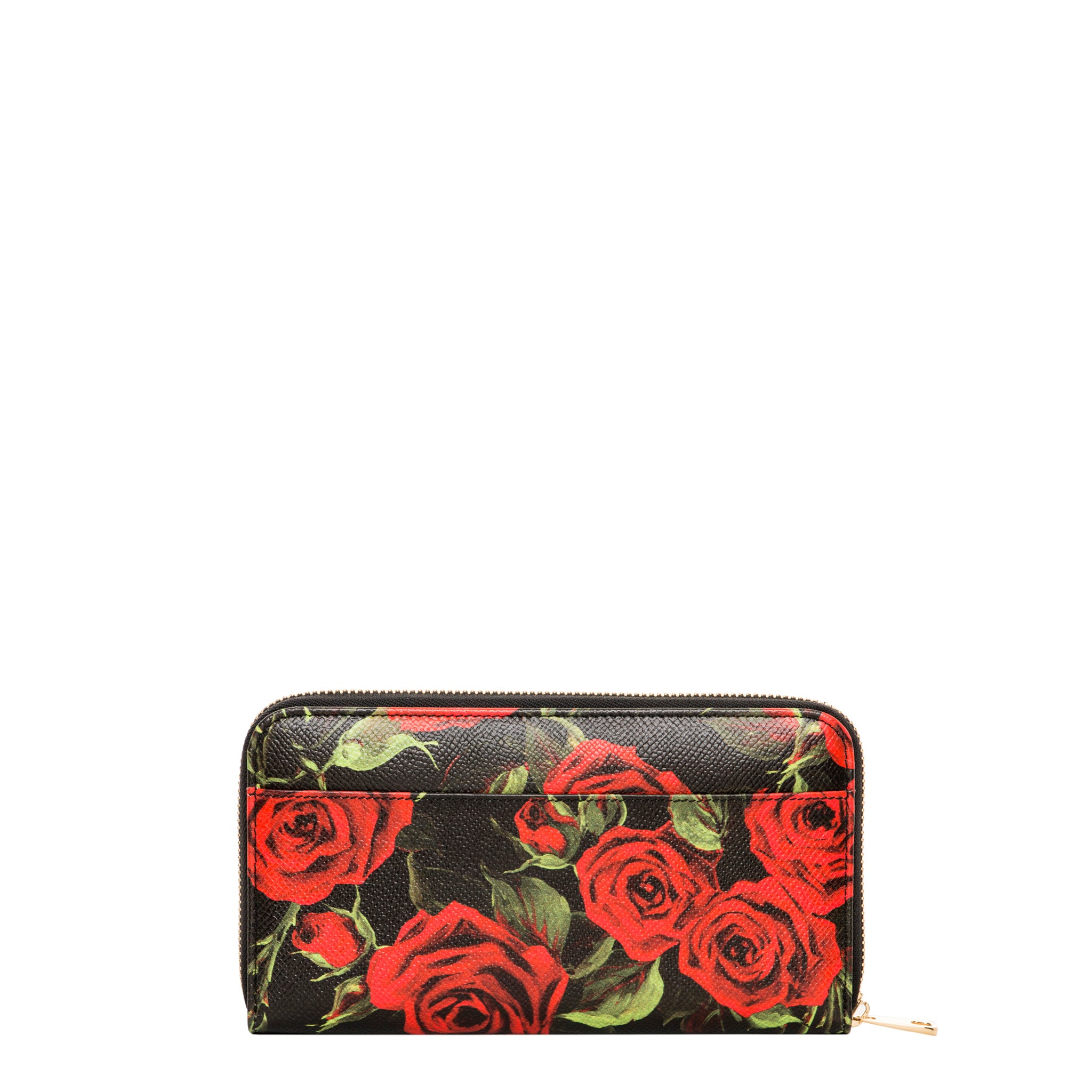 f7c3a822 Shop Dolce & Gabbana Rose Dauphine Print Zip-Around Wallet - Free Shipping  Today - Overstock - 10100520