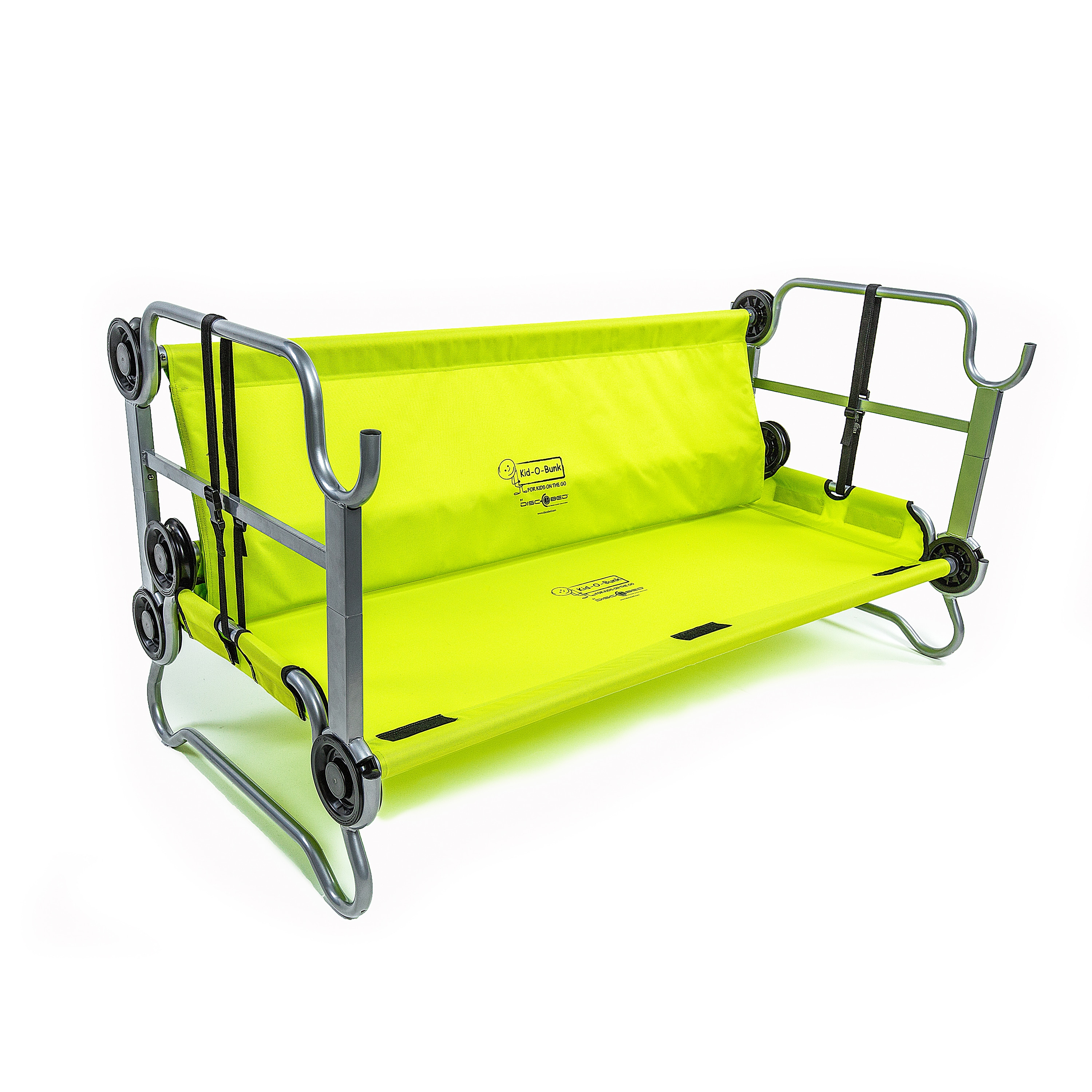 Disc O Bed Kid Bunk Lime Green With Side Organizer