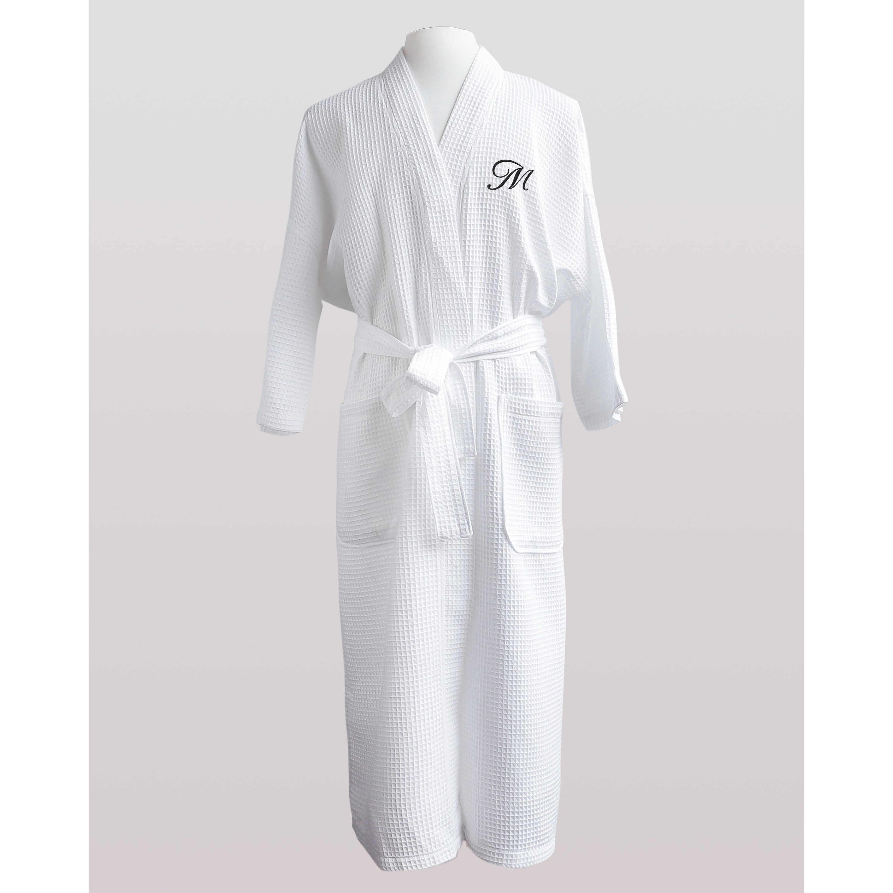 fb4f261040 Shop Finley Unisex Egyptian Cotton Monogram Waffle Spa Robe - Free Shipping  Today - Overstock - 10102576
