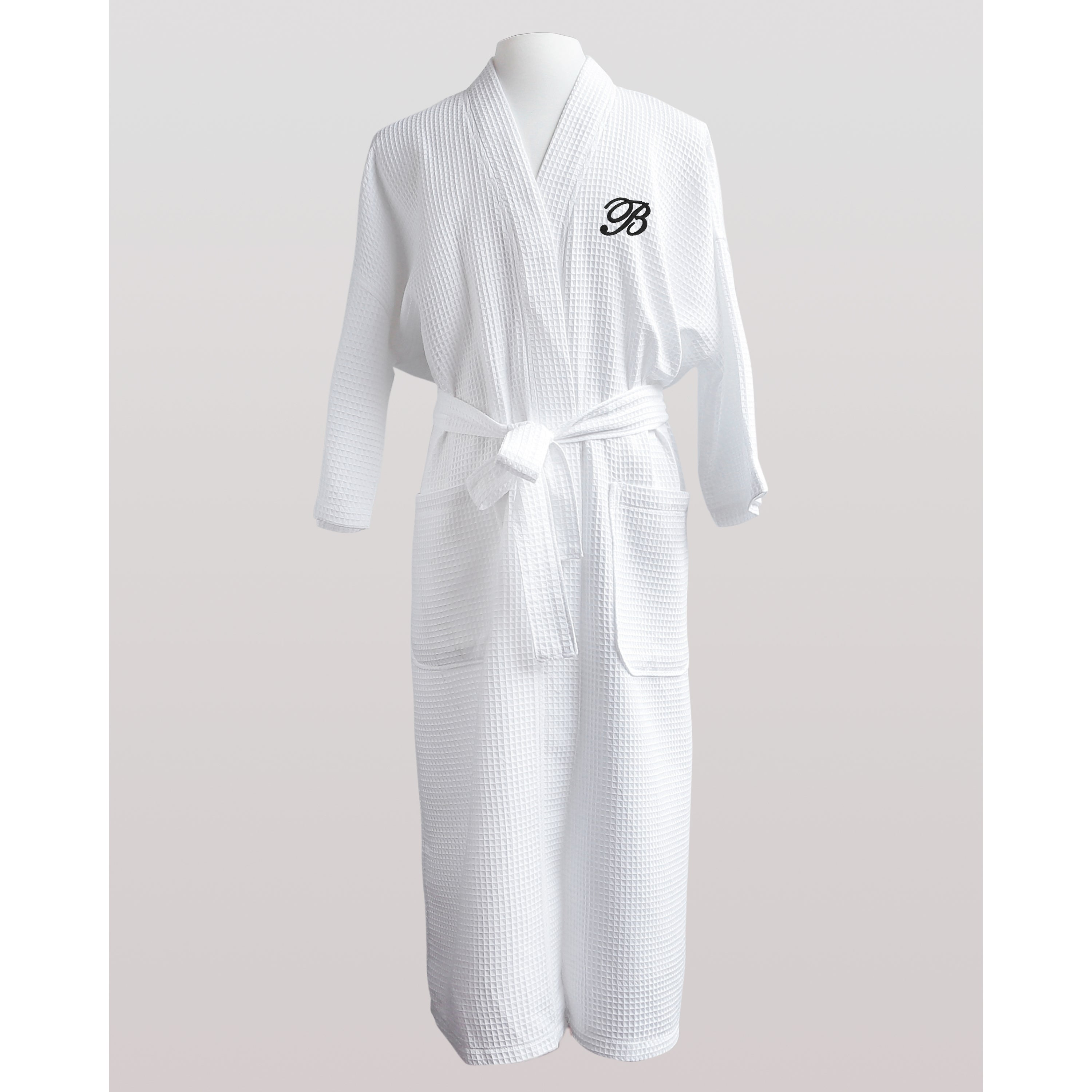 12b5676f92 Shop Finley Unisex Egyptian Cotton Monogram Waffle Spa Robe - Free Shipping  Today - Overstock - 10102576