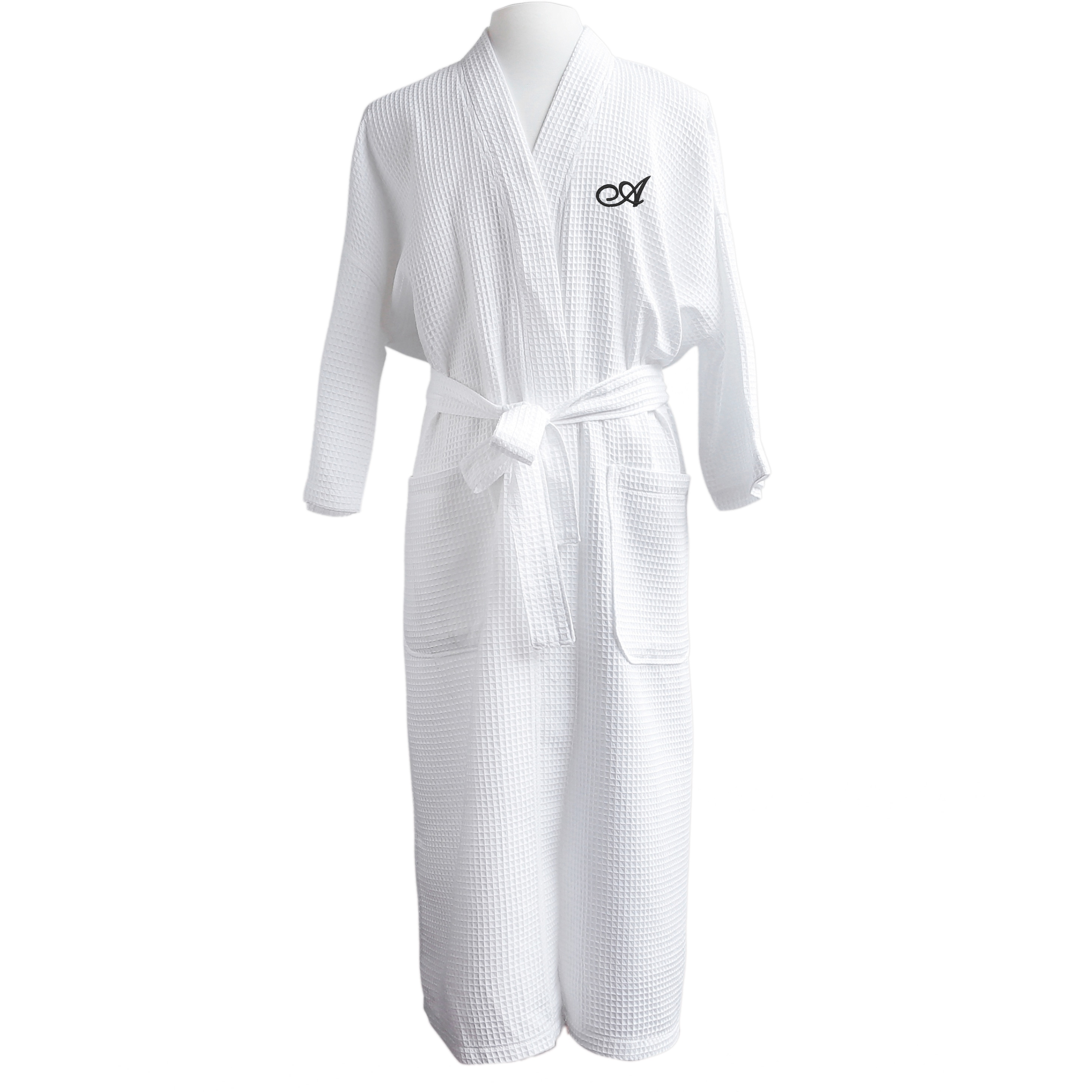 6b6a315ffe Shop Finley Unisex Egyptian Cotton Monogram Waffle Spa Robe - Free ...