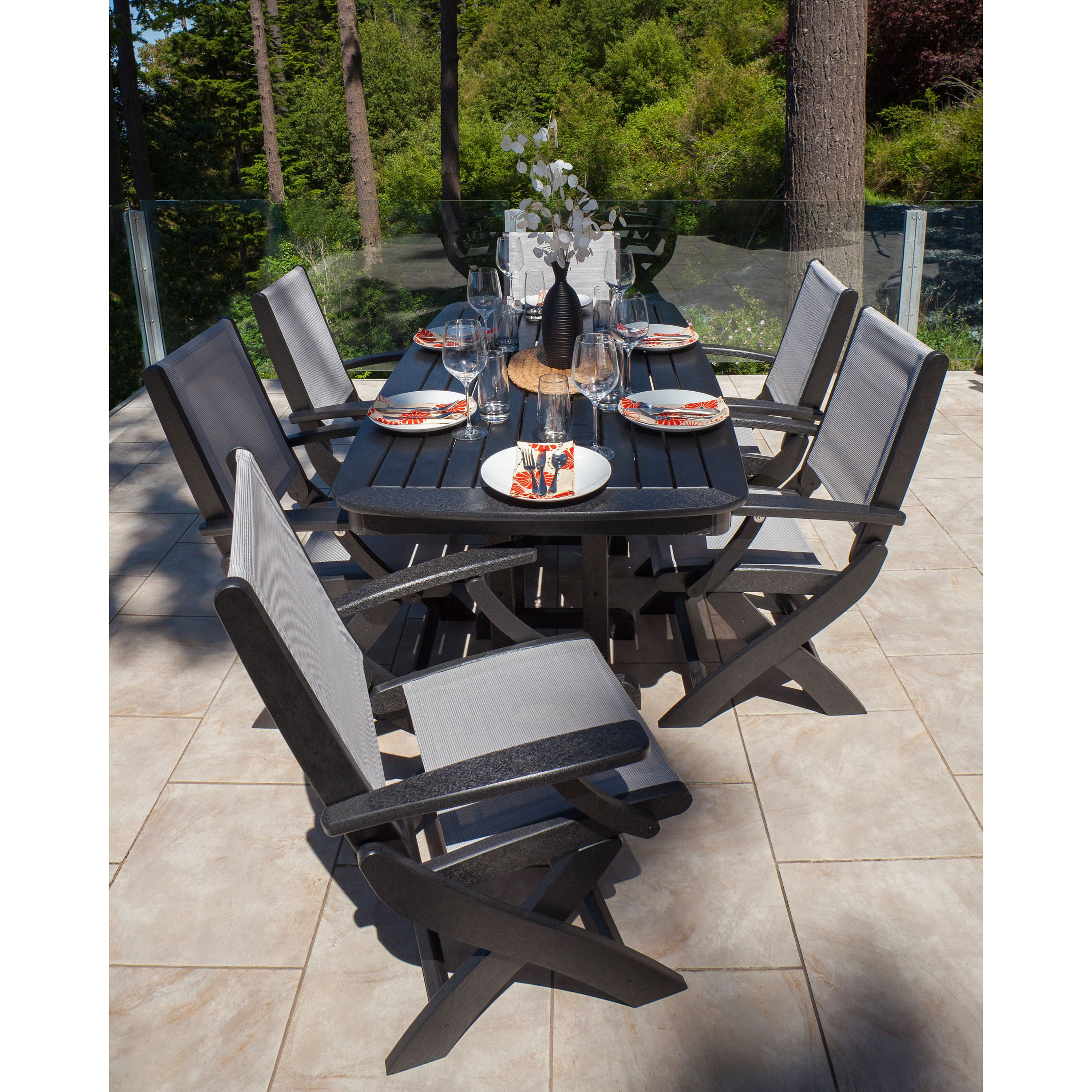 POLYWOOD Coastal 7 piece Dining Set Free Shipping Today