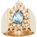 14k Yellow Gold 1/2ct TDW Diamond and Blue Topaz Estate Ring (G-H, SI3)