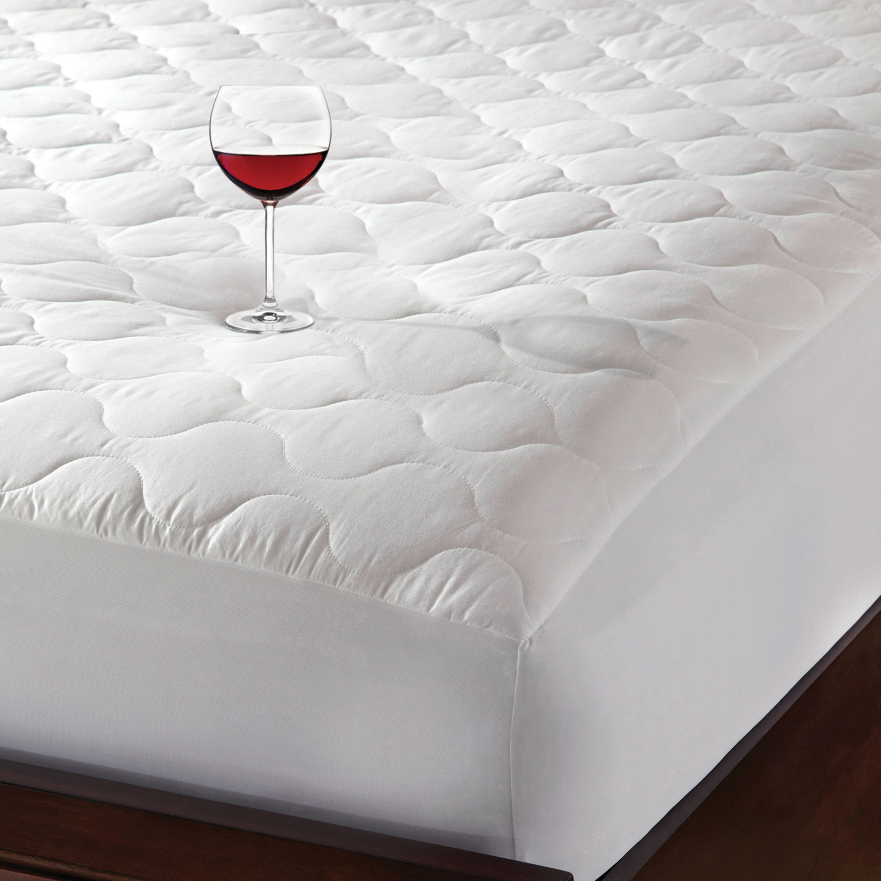 fitted walmart soft mainstays com ip top waterproof cover protector mattress