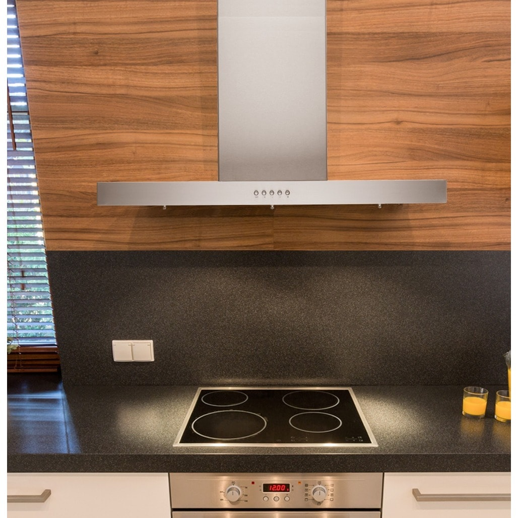 Shop Brillia 30-inch 750 CFM. Wall Mount Range Hood, with LED Lights ...