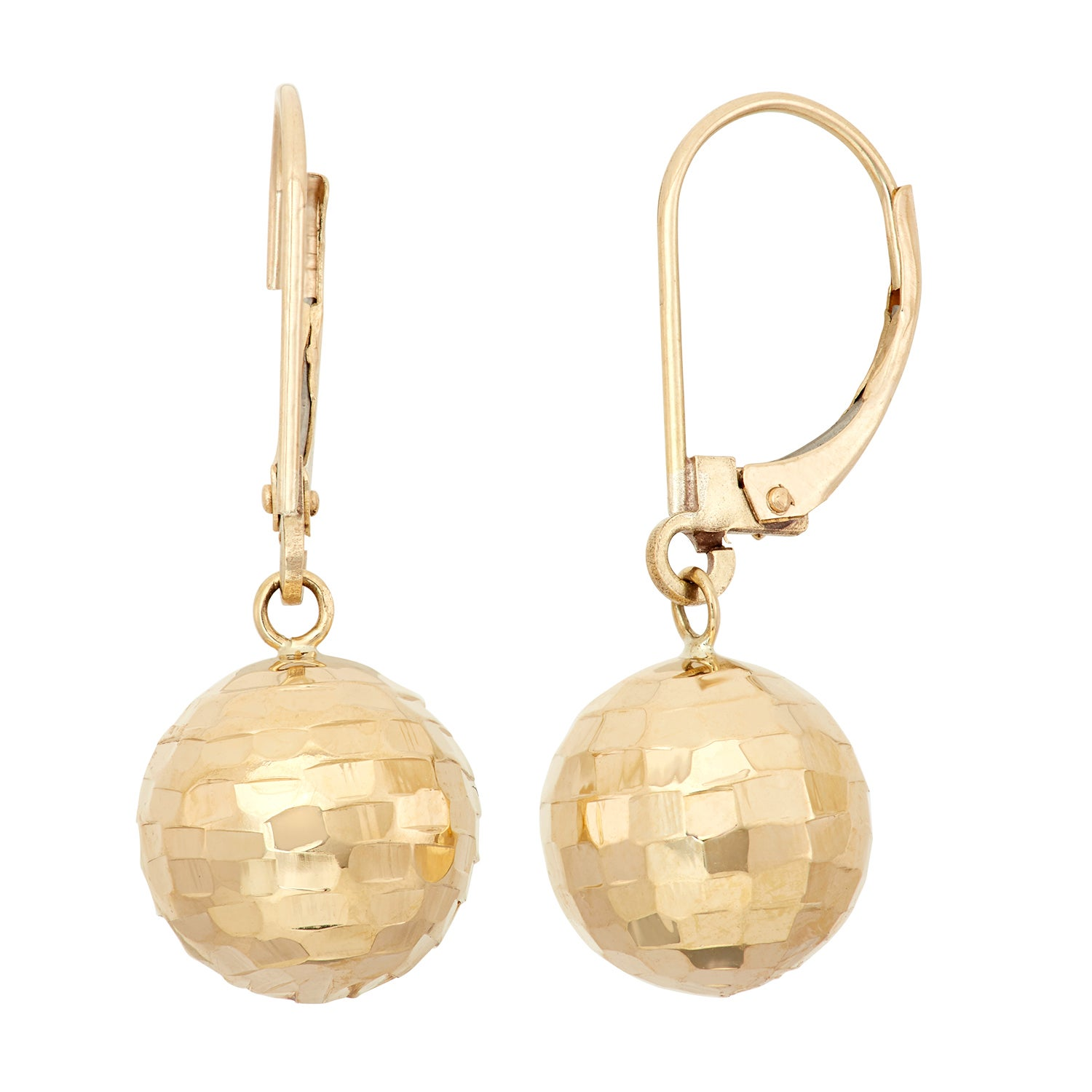 macys accent earrings cubic star zirconia and gold metallic lyst in stud s set jewelry ball designer macy