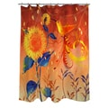 Thumbprintz Daisy Hum Dark Shower Curtain