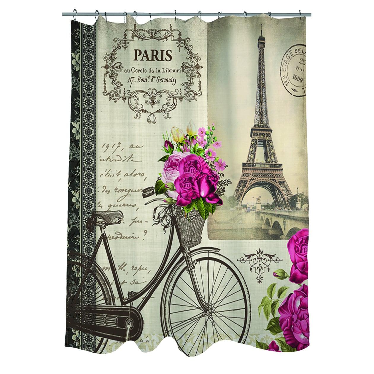 Shop Springtime In Paris Bicycle Shower Curtain