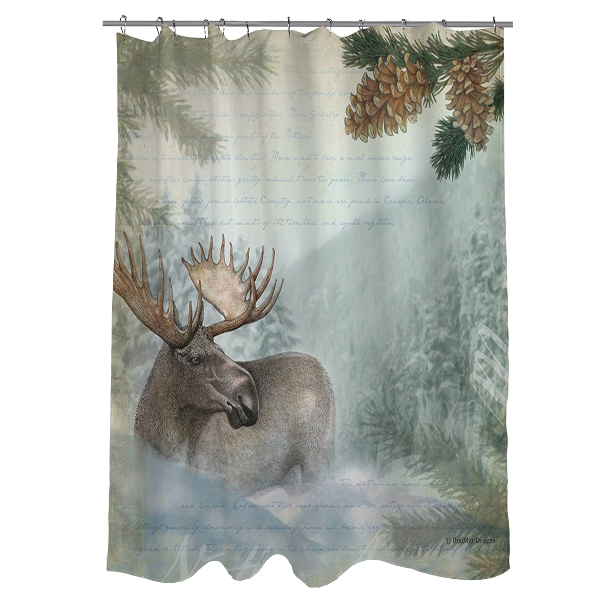 Shop Conifer Lodge Moose Shower Curtain