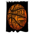Basketball Sports Silhouettes Shower Curtain