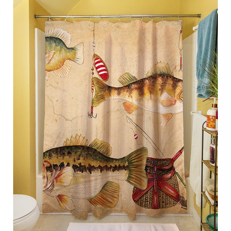 Shop Fish And Lures Shower Curtain