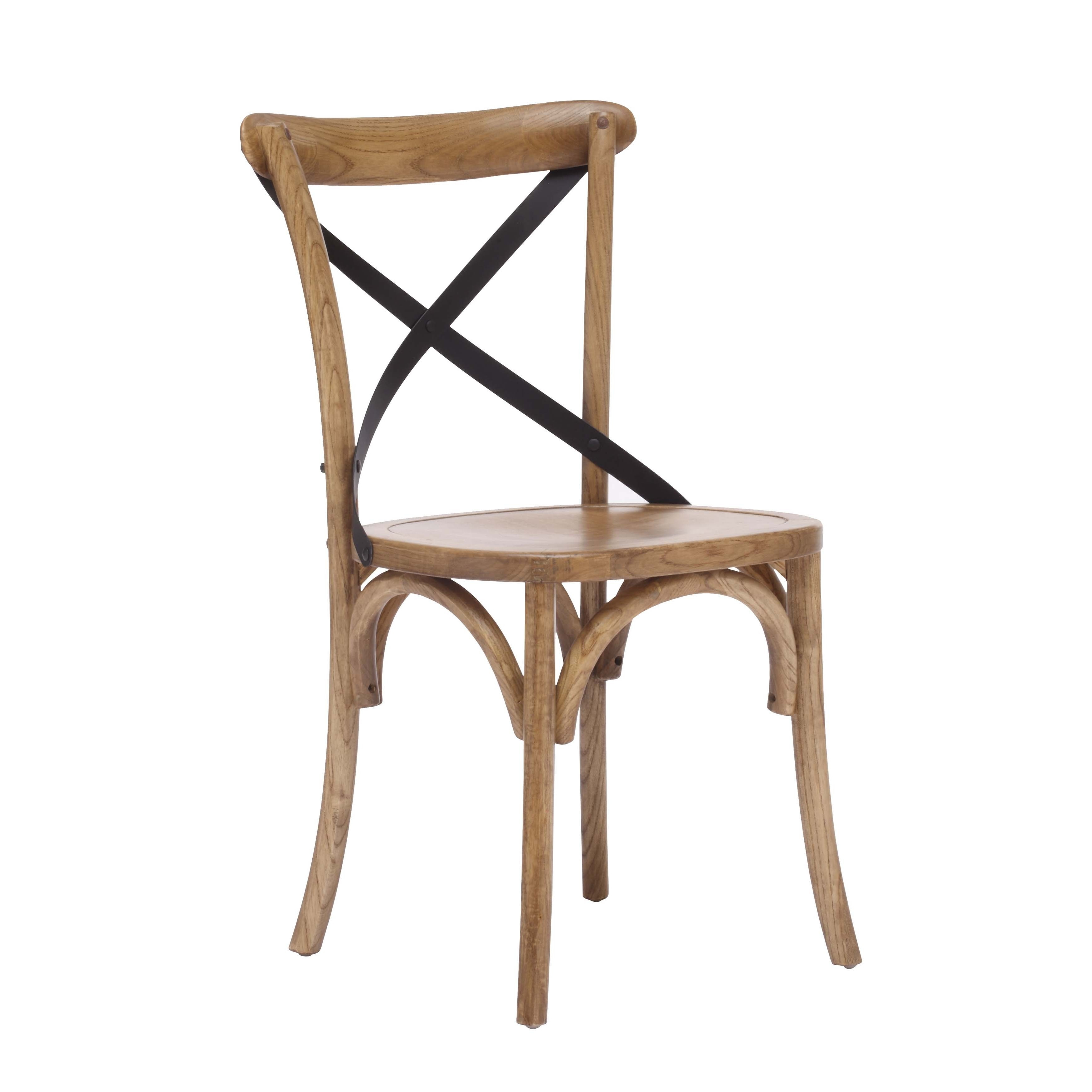Union Square Rustic Woode X Back Dining Chair Free Shipping Today 10109431