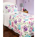 Slumber Shop Whoot Owl Reversible 3-piece Quilt Set